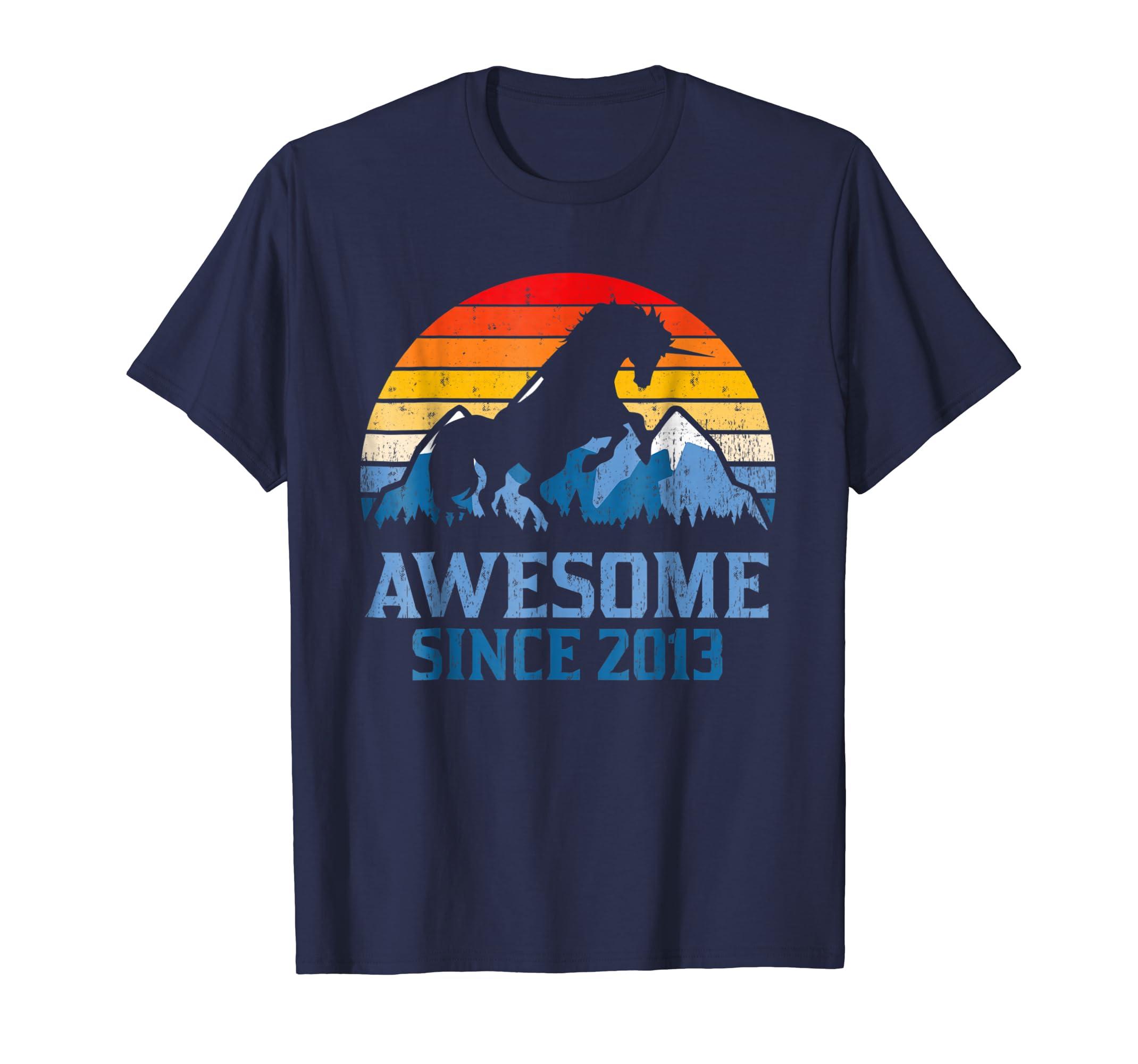 5th Birthday Gift Shirt Unicorn 5 Year Old T Shirt for Girl-SFL