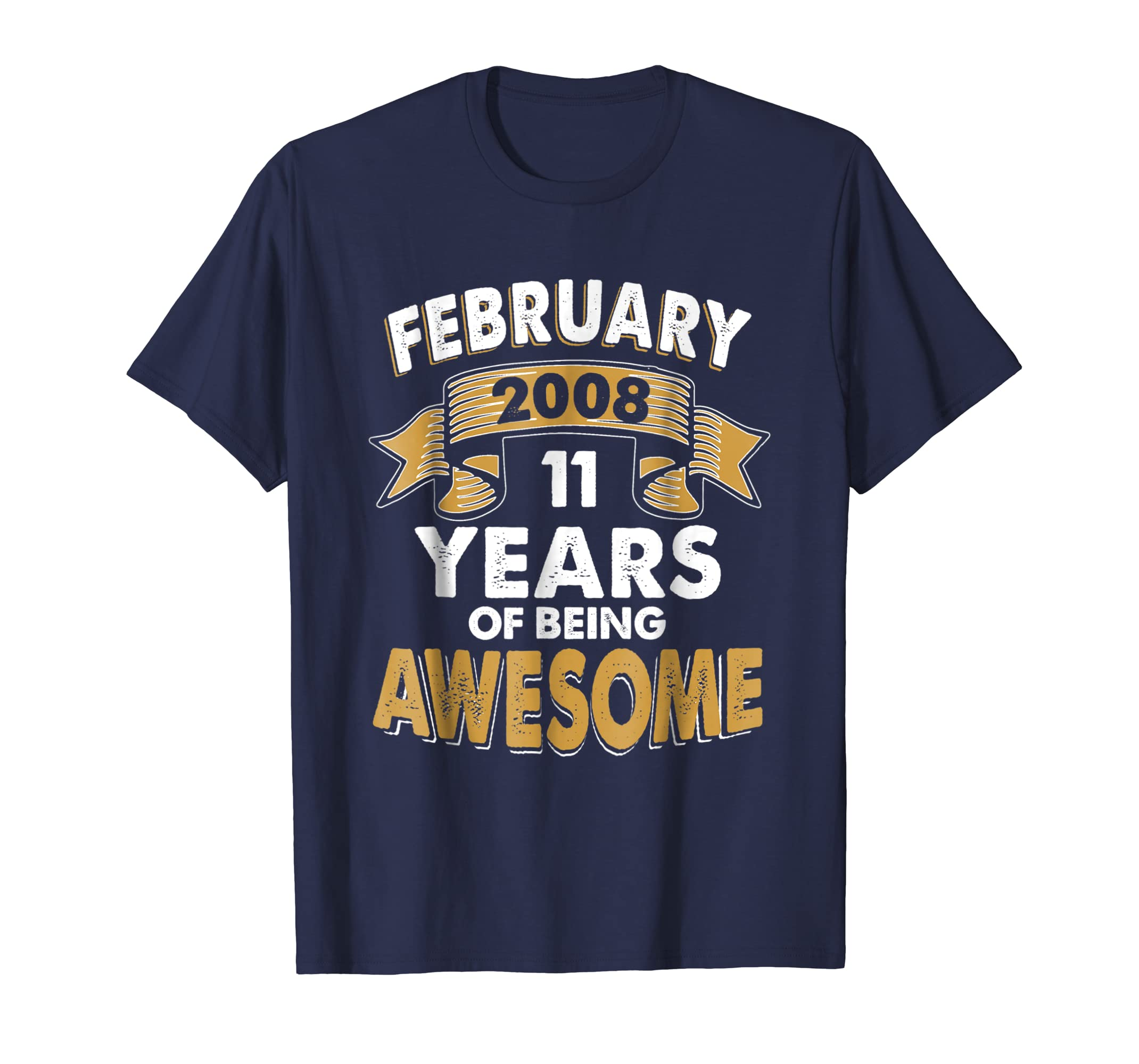Born in FEBRUARY 2008 11 st Years of Being Awesome T Shirt-azvn