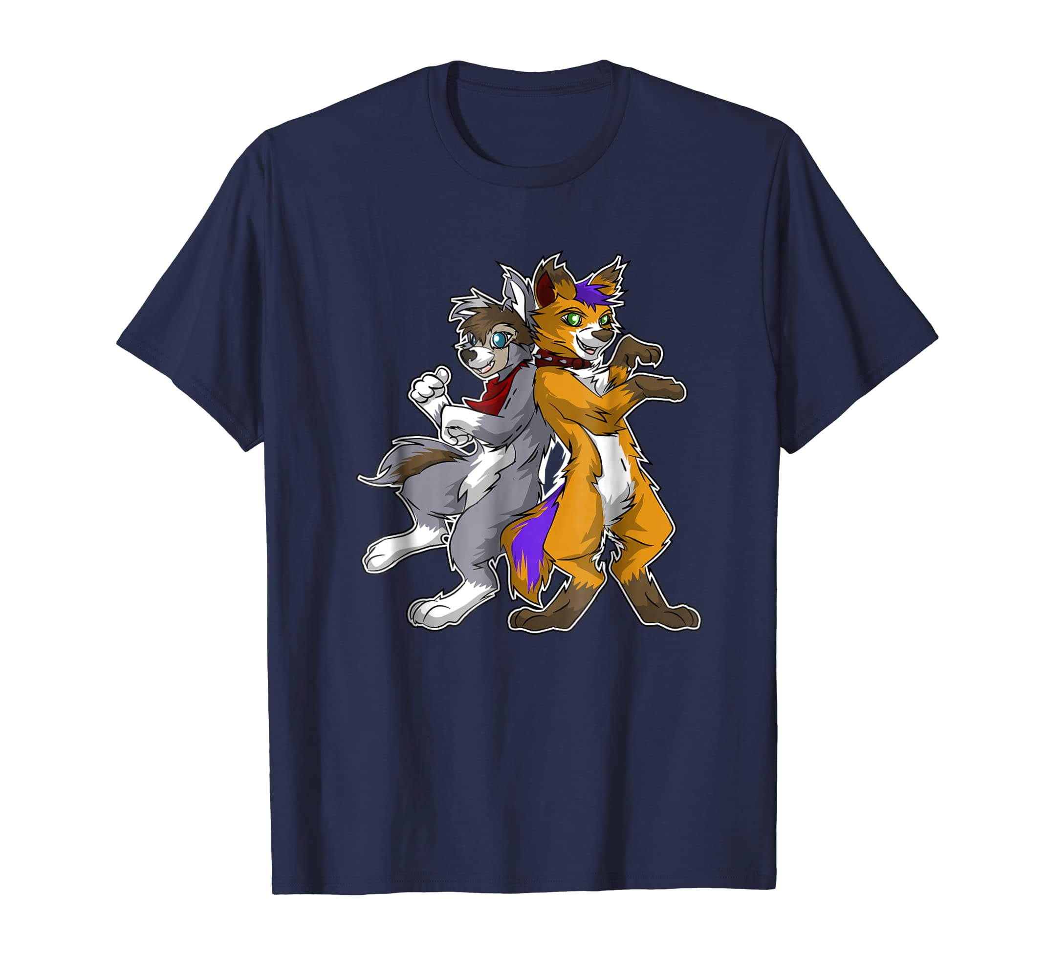 Friendship t-shirt - Two wolves furry shirt-AZP