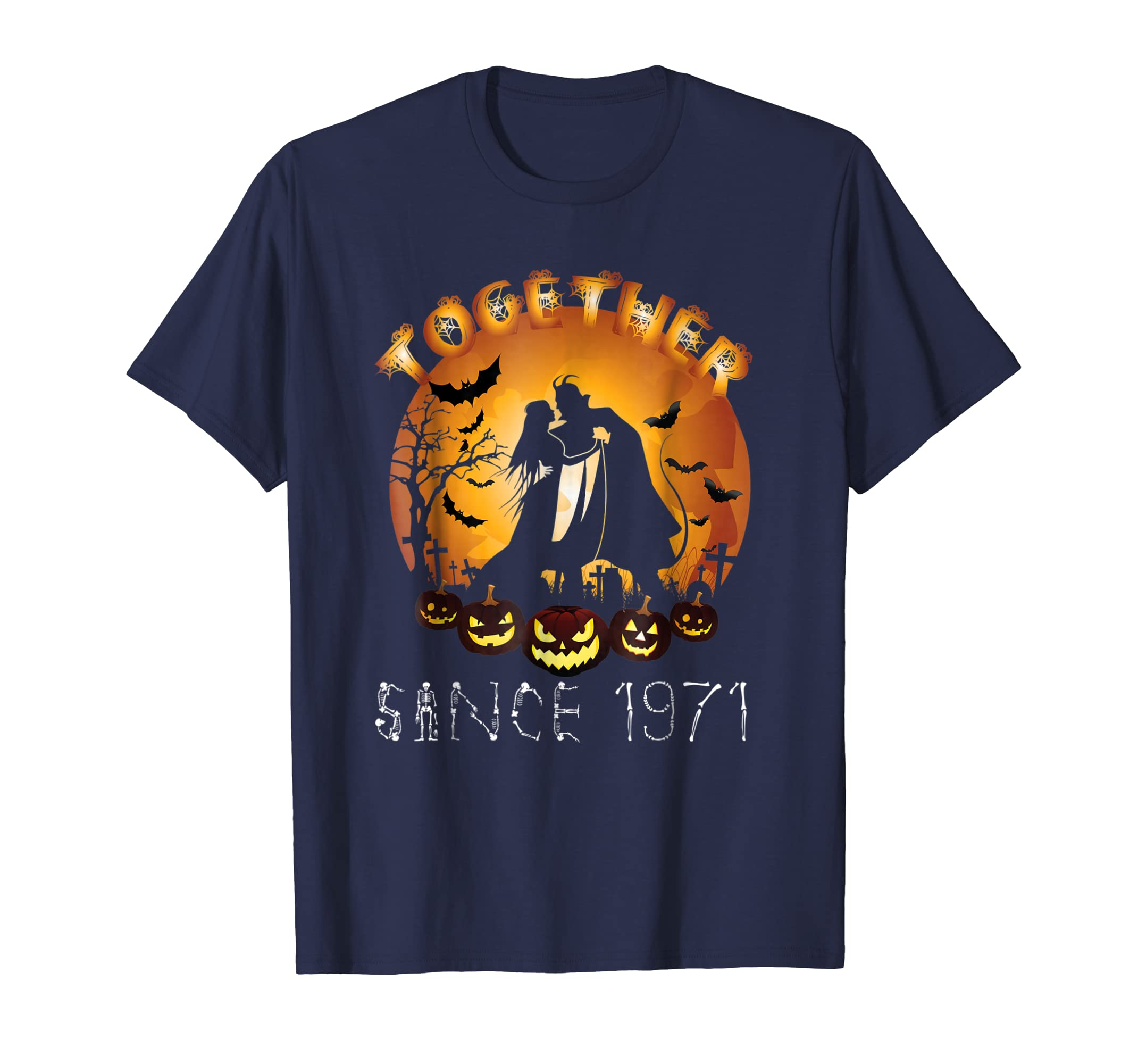 Anniversary Together Since Halloween 1971 T shirt