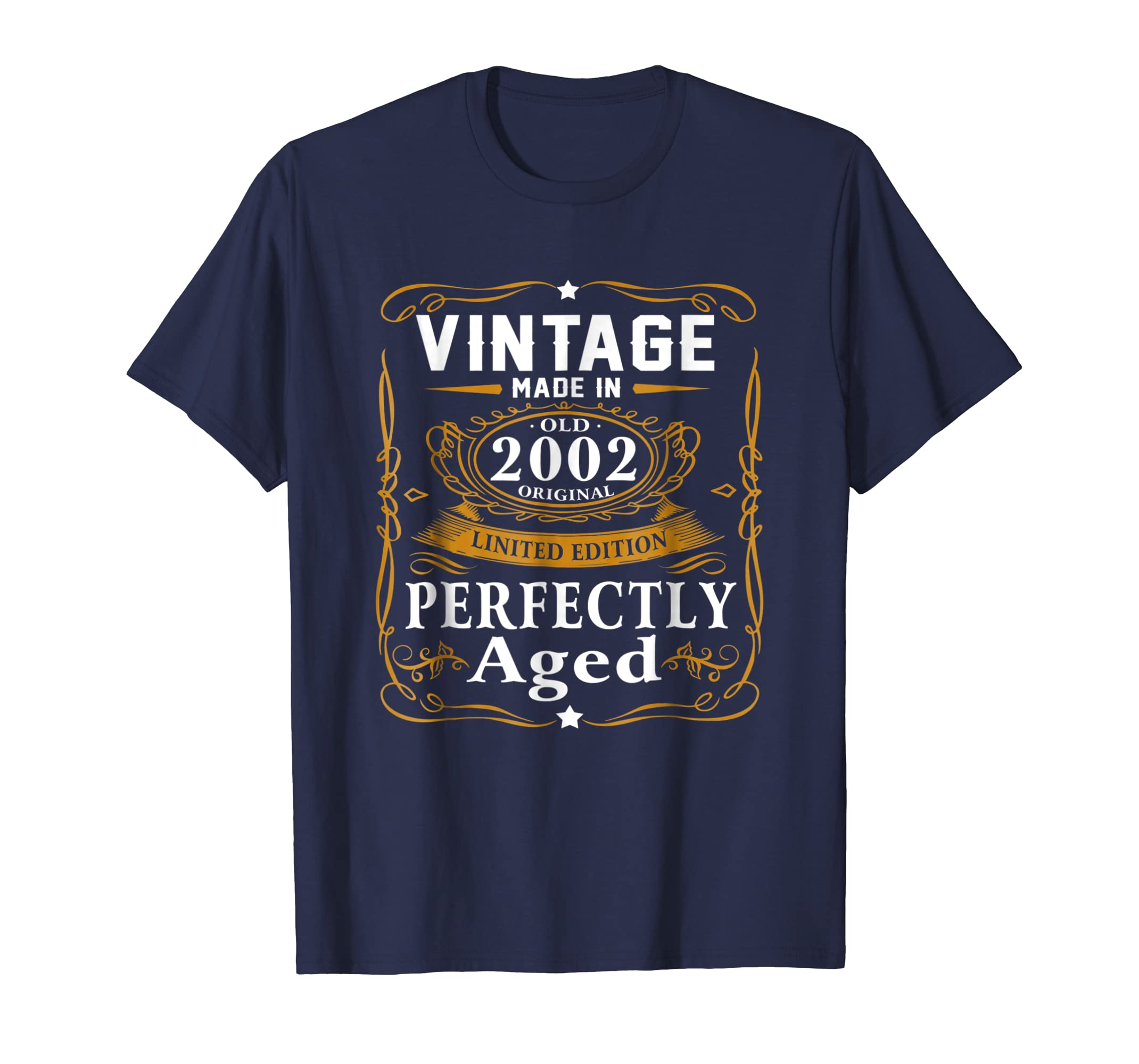 17th Birthday Gift Vintage 2002 Year T Shirt Men Women-azvn