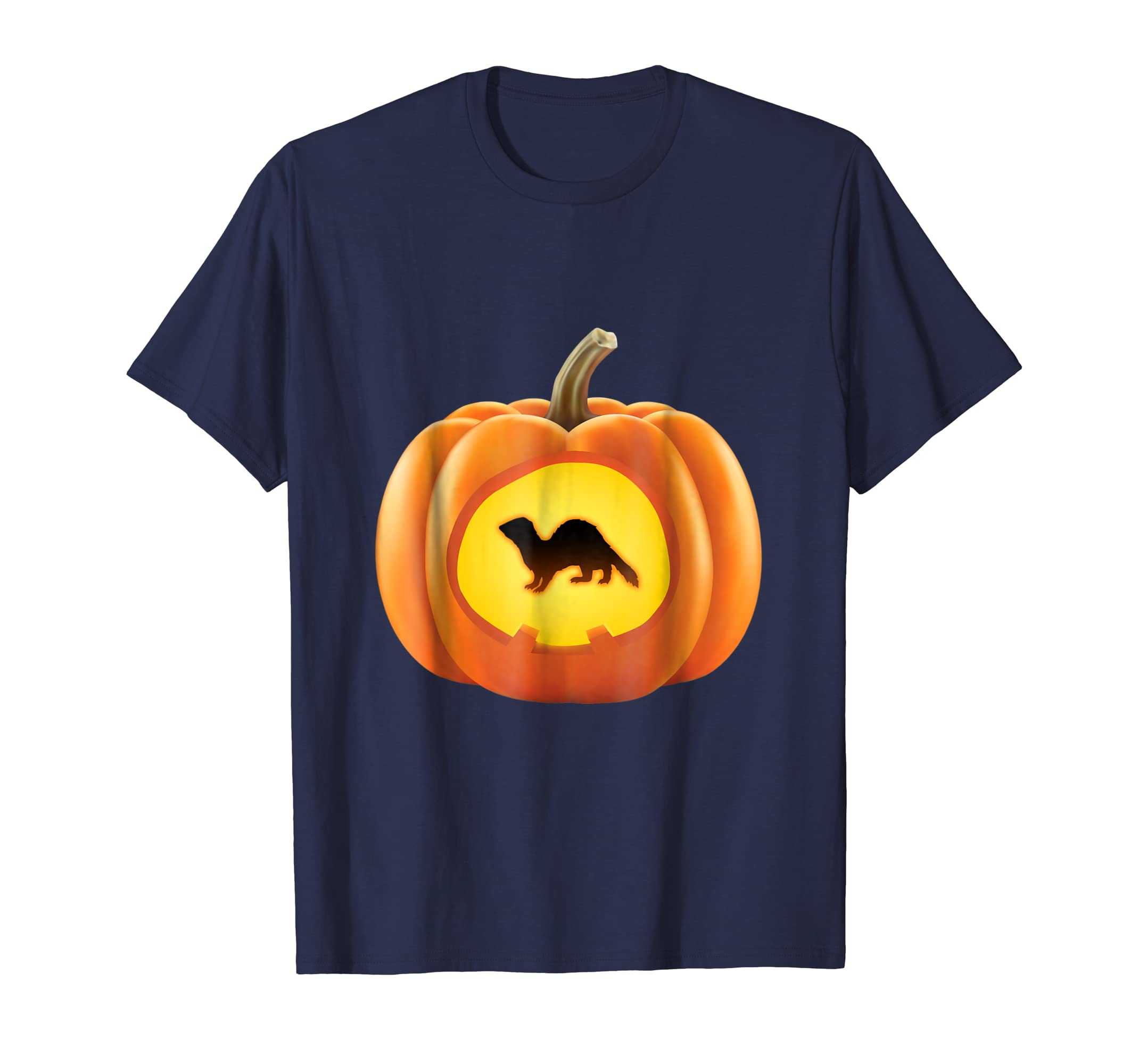 Funny Ferret in Pumpkin Halloween Costume T-Shirt-SFL