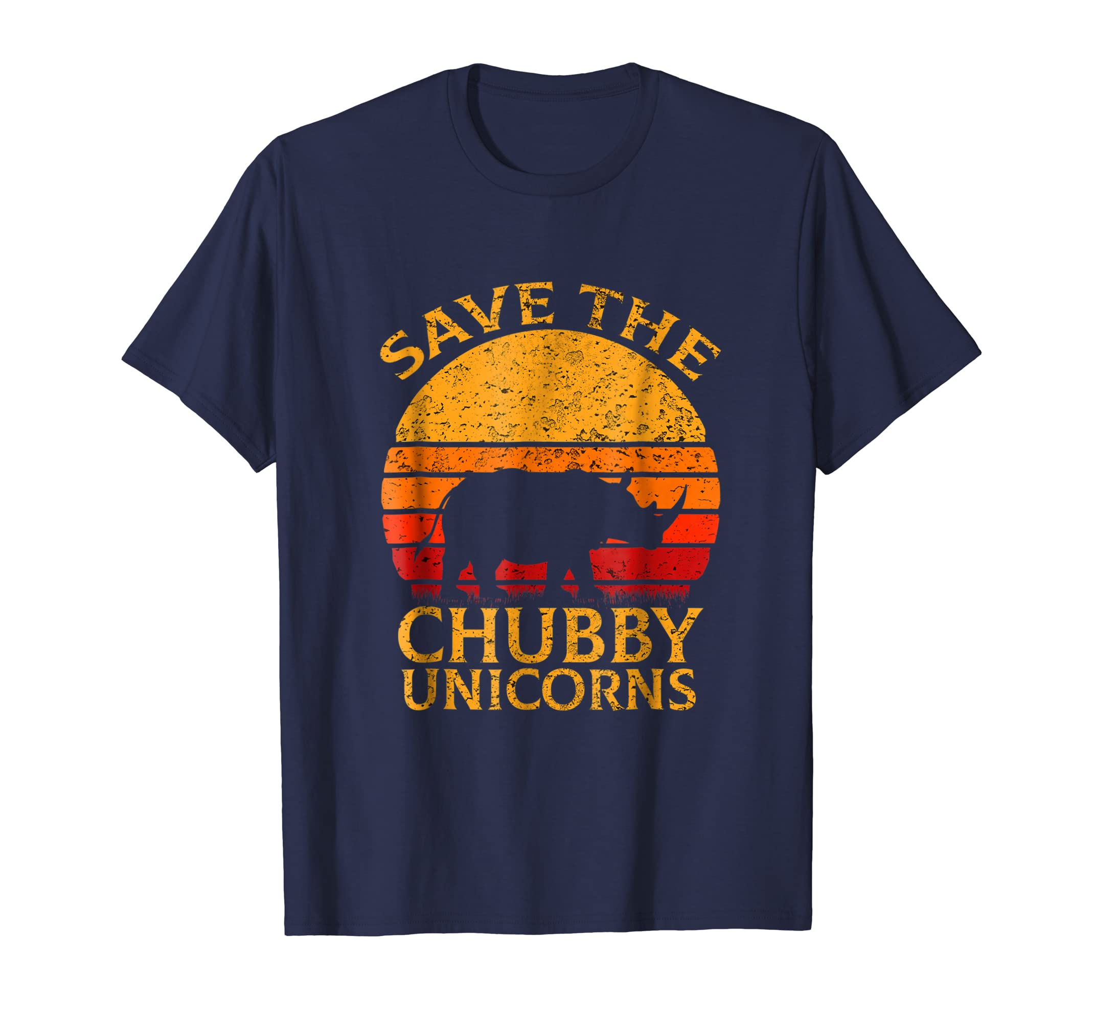 Funny Vintage Retro Save The Chubby Unicorns T-shirt-SFL