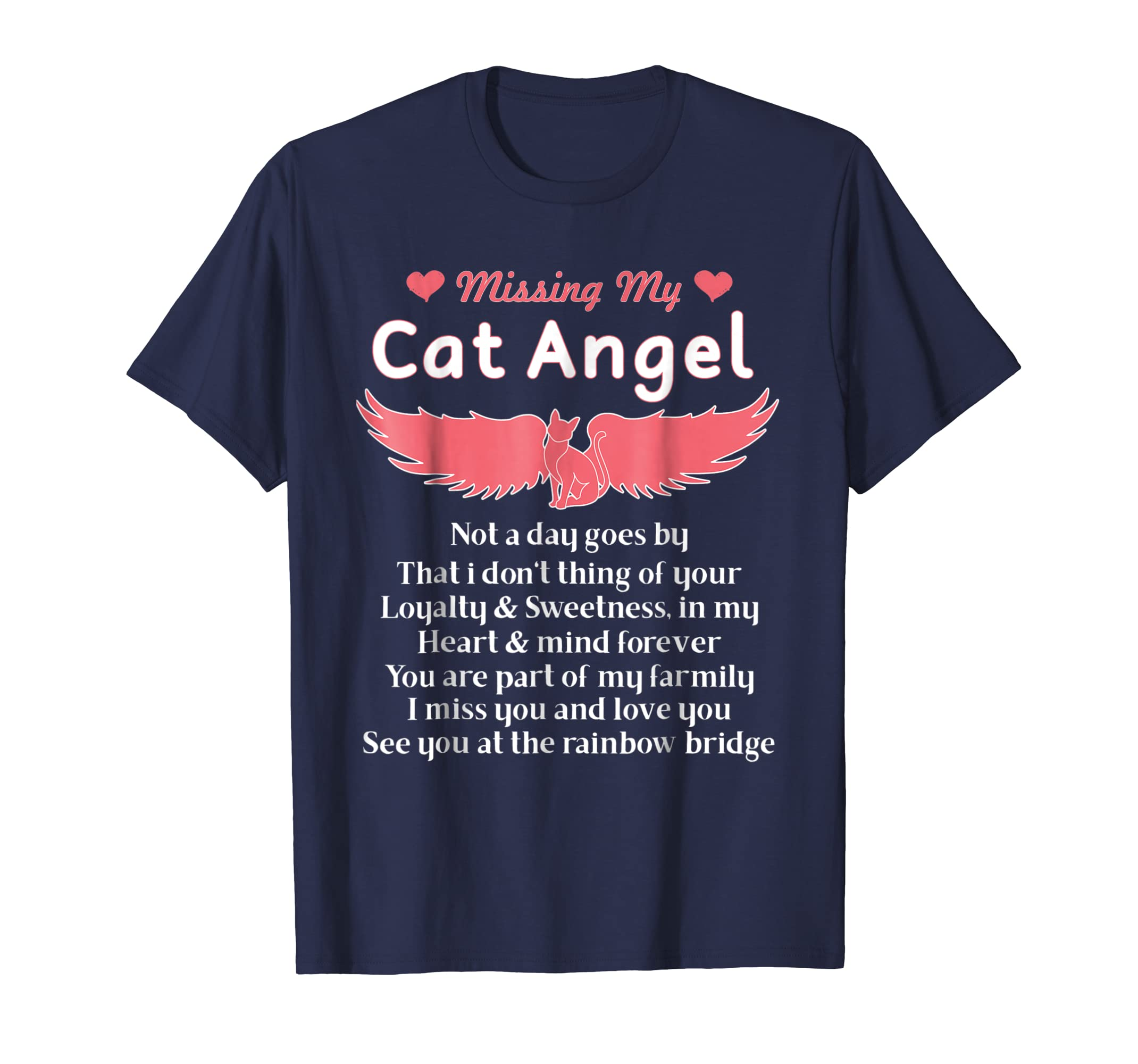 Missing My Cat Angel - Pet Loss T-shirt Kitty Lovers Gift-AZP