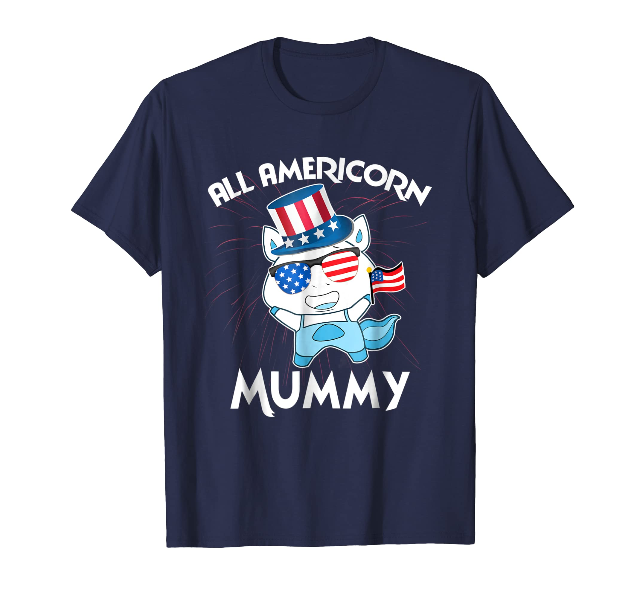 All Americorn Mummy 4th july shirt Mothers Day gifts-mt