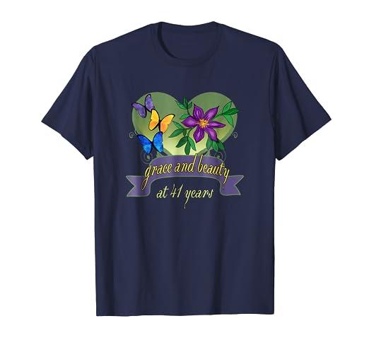 Amazon 41st Birthday Grace And Beauty T Shirts