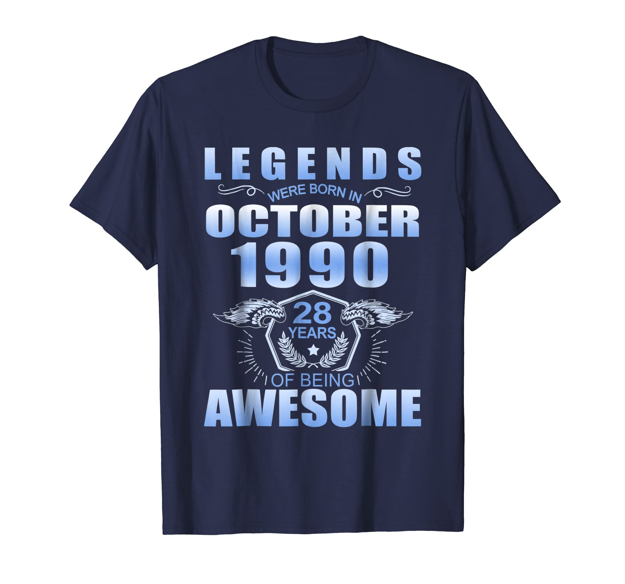 Legends Were Born in October 1990 Tshirt - 28th Birthday-SFL