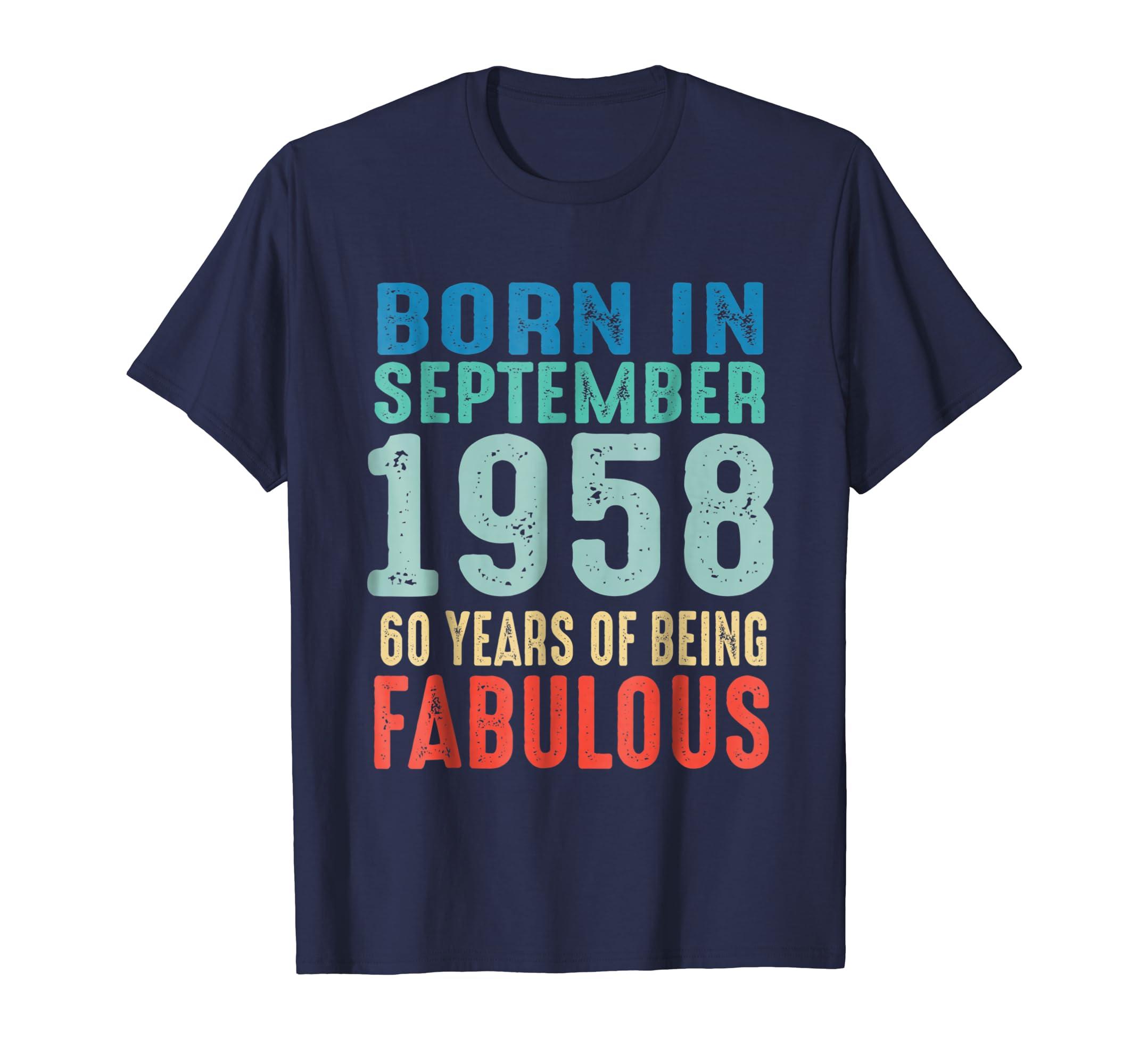 60 Years Old 1958 Vintage 60th Birthday Men Women Shirts-Awarplus