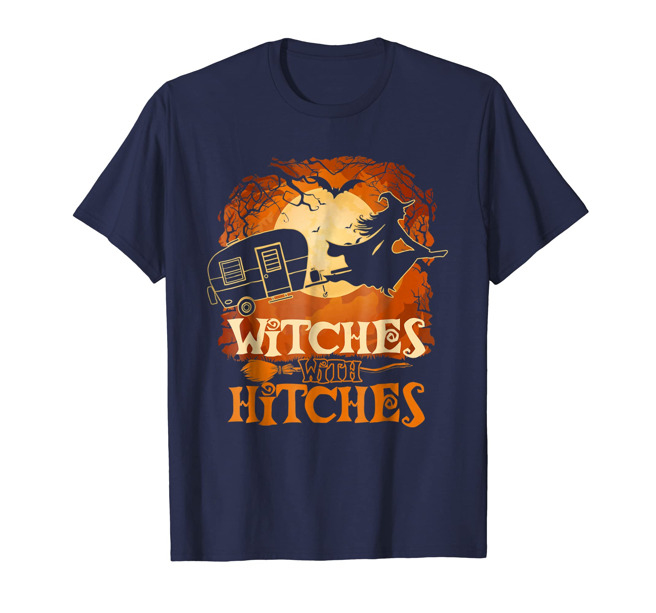 Witches with Hitches Funny Halloween Costume T Shirt-Colonhue