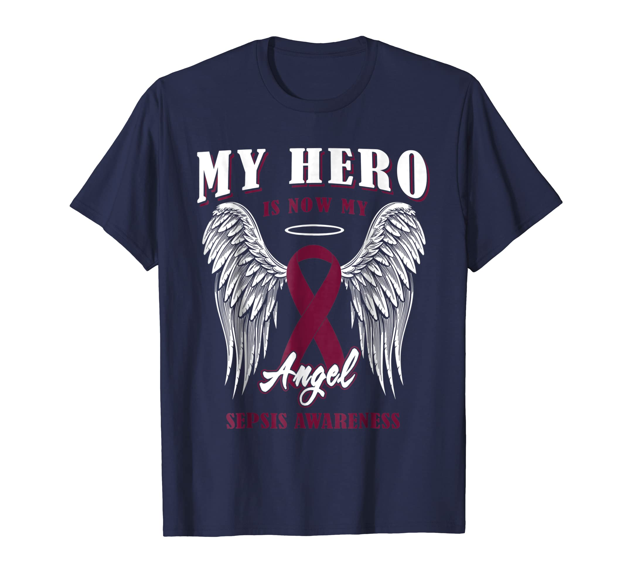 My Hero Is Now Angel Sepsis Awareness T Shirt Clothing Selis Youth