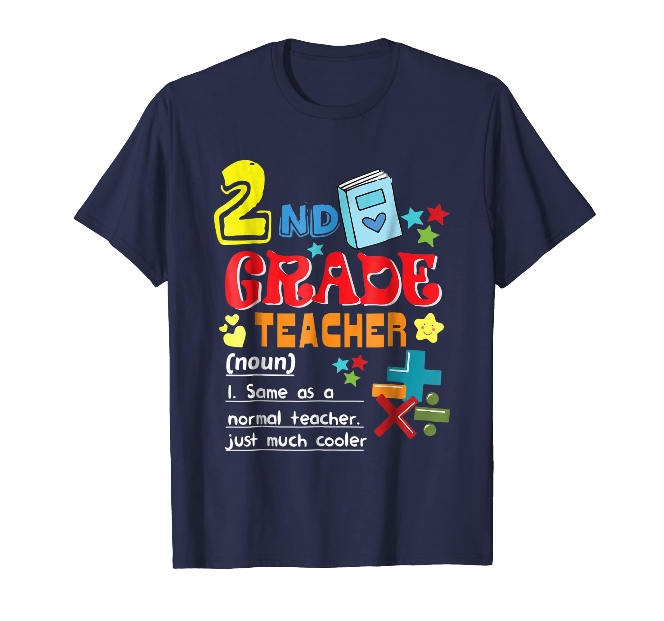 Back To School Shirt 2nd Grade Teacher Definition Shirts-mt