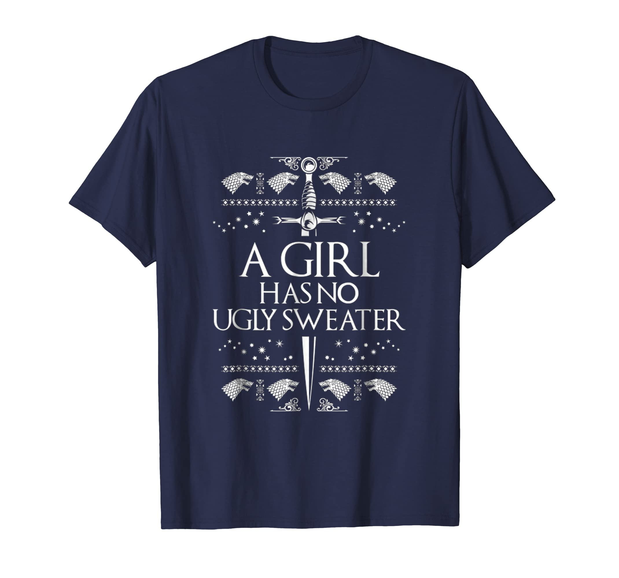 A Girl Has No Ugly Sweater Funny Christmas T Shirt-azvn