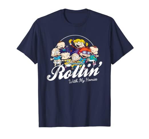 dbbf9a43968 Amazon.com  Rugrats Rollin With My Homies Baby Group Graphic T-Shirt ...