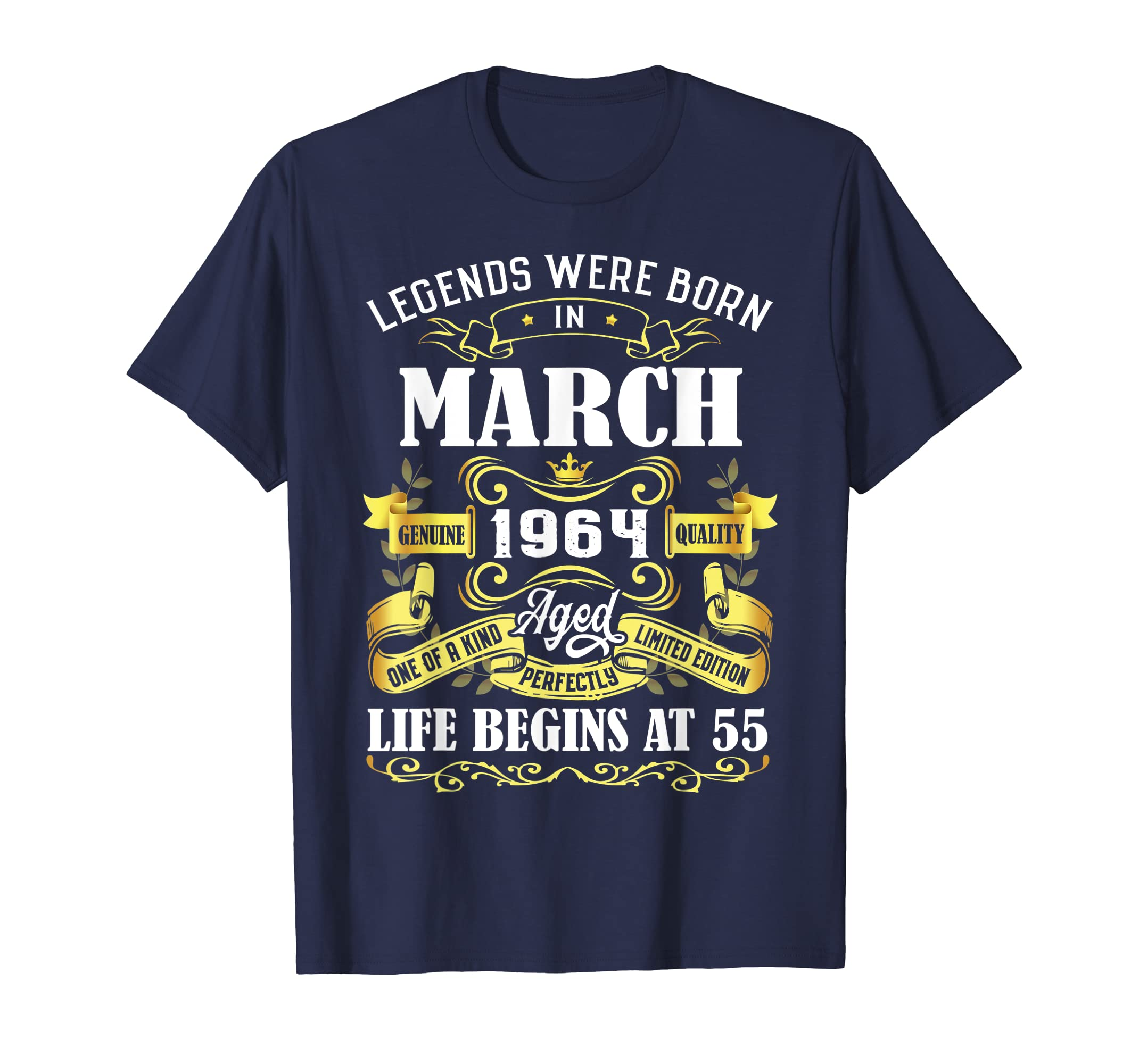 Amazon Legends Were Born In March 1964 55th Birthday Gift Shirt Clothing