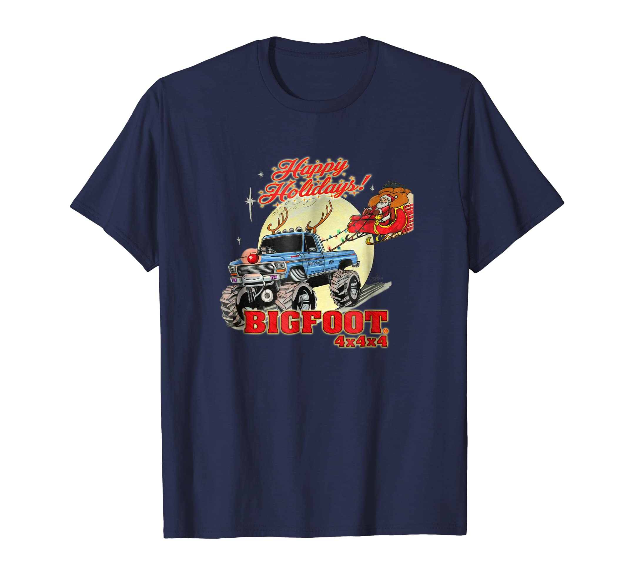 Happy Holidays 2018 BIGFOOT T Shirt (color options 1)-azvn