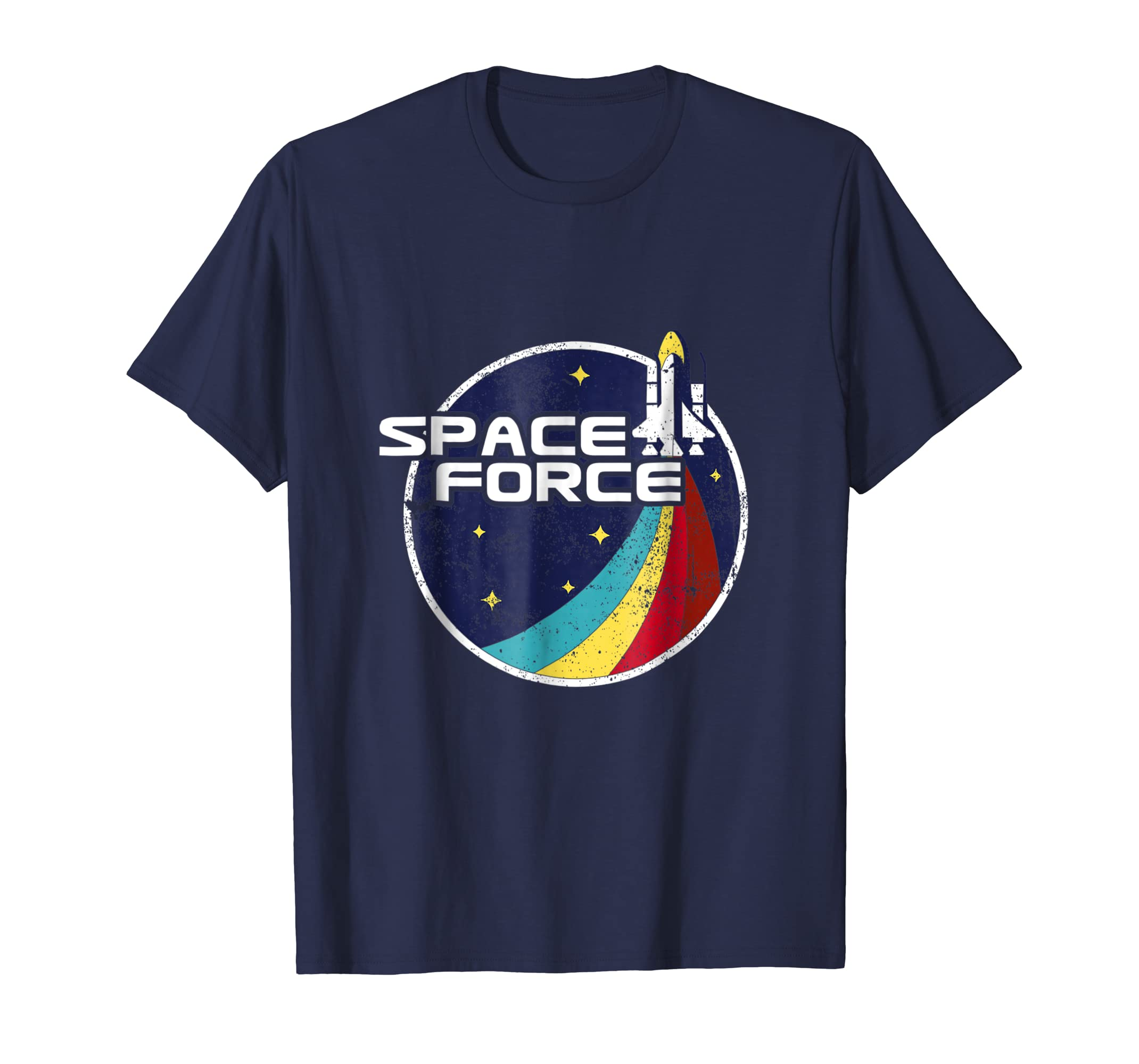 Space Force Vintage T Shirt Funny Gift-Teesml