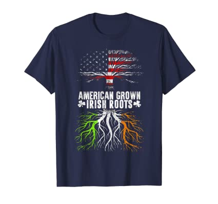 American Grown Irish Roots St. Patrick's Day T-shirt