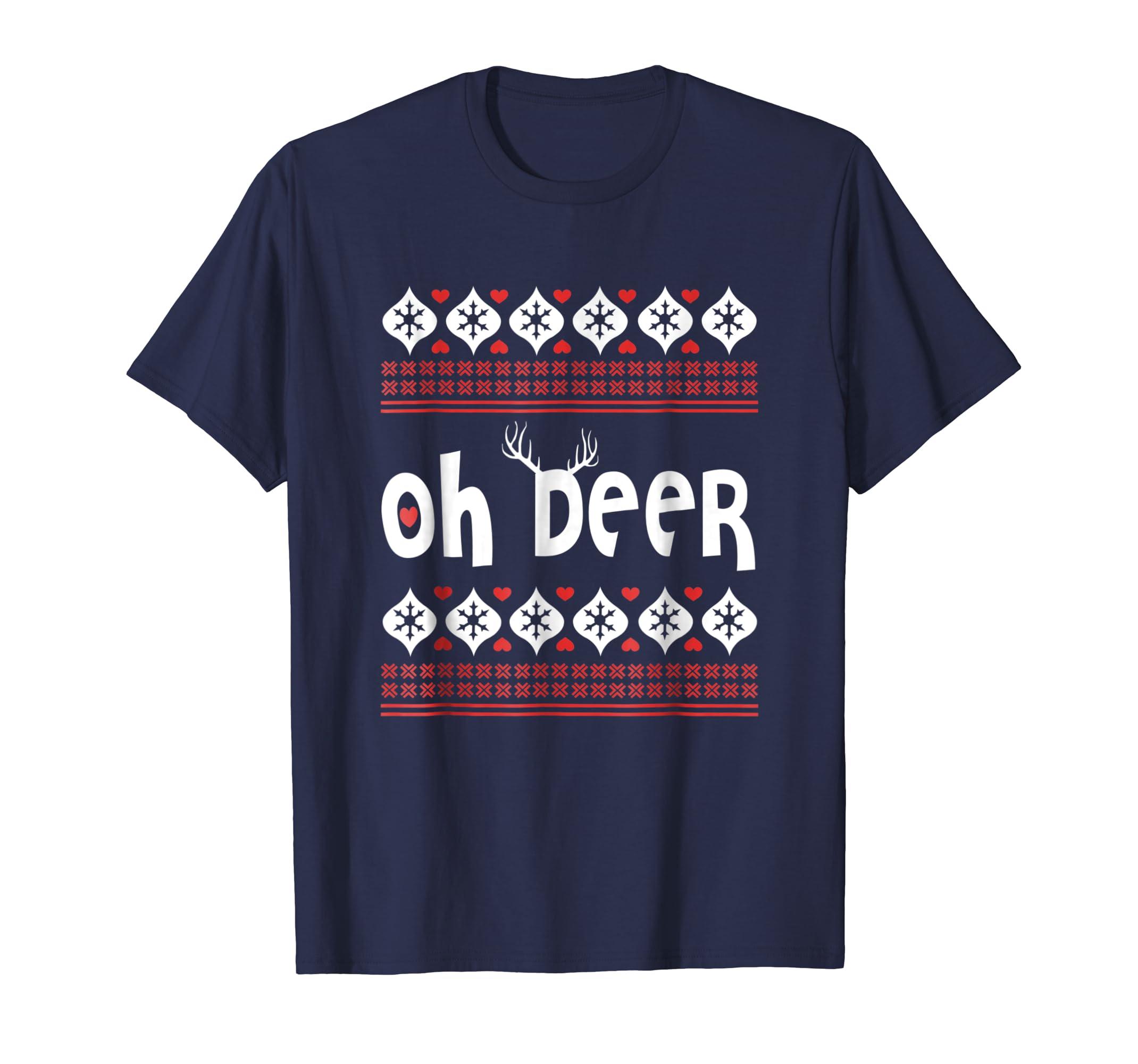 oh deer christmas shirt , Funny christmas shirt-azvn