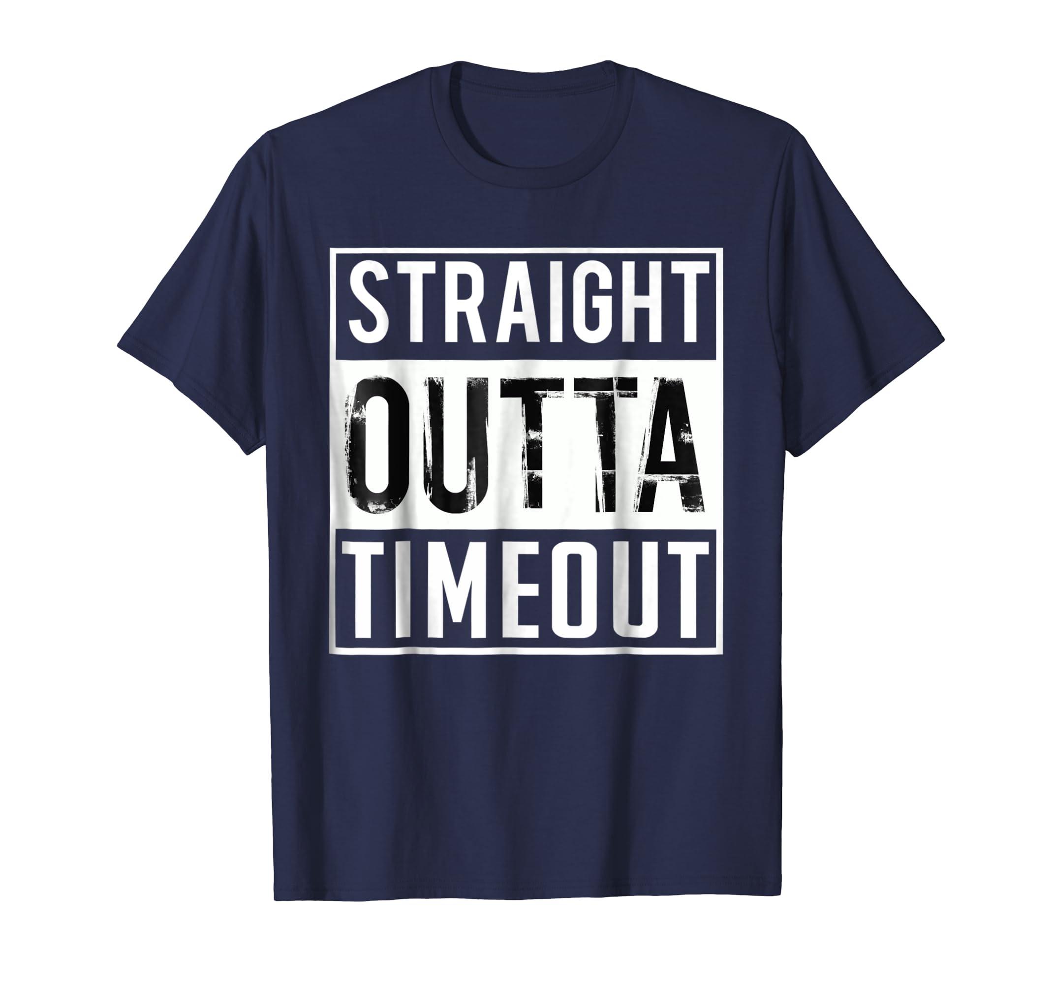 Straight Outta Timeout Tshirt Toddler Kids Childs Shirt-ln