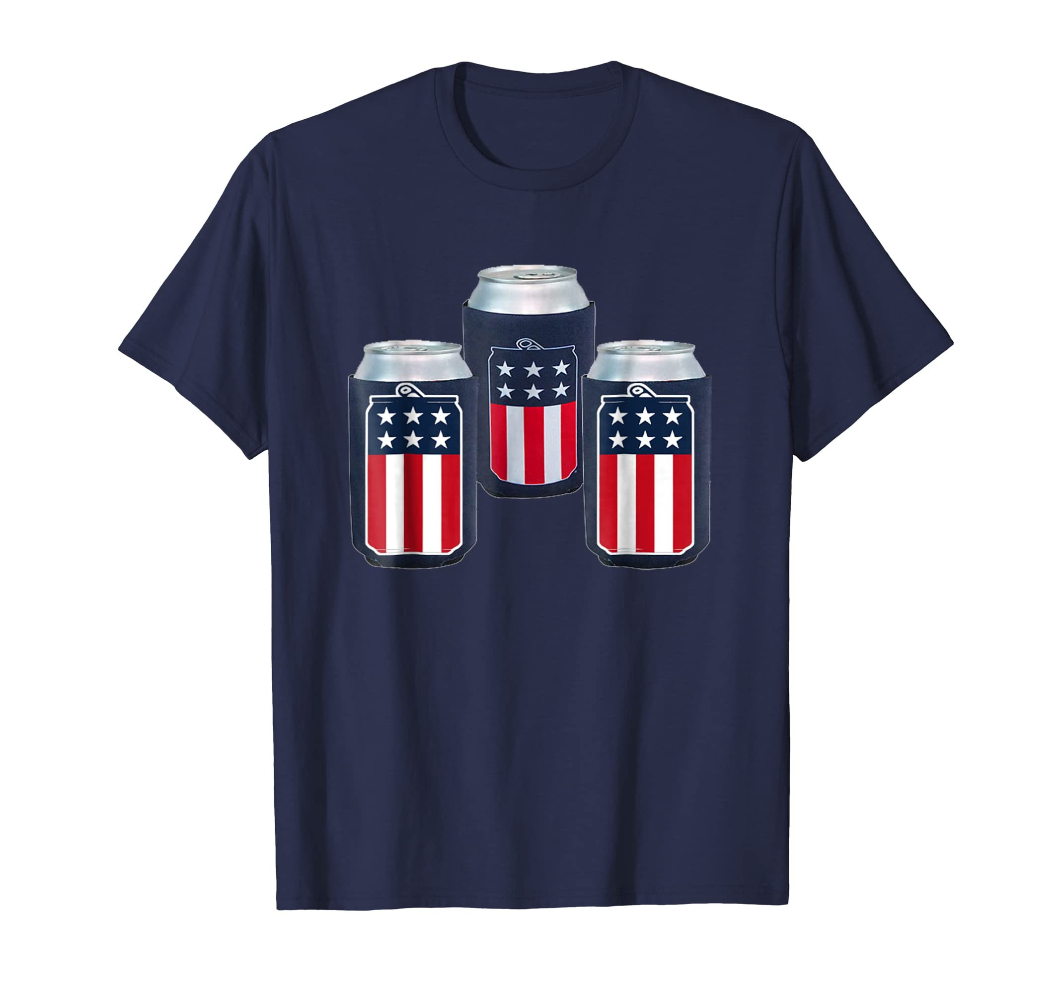 Beer Day America TShirts for Men Beer American Flag-AZP