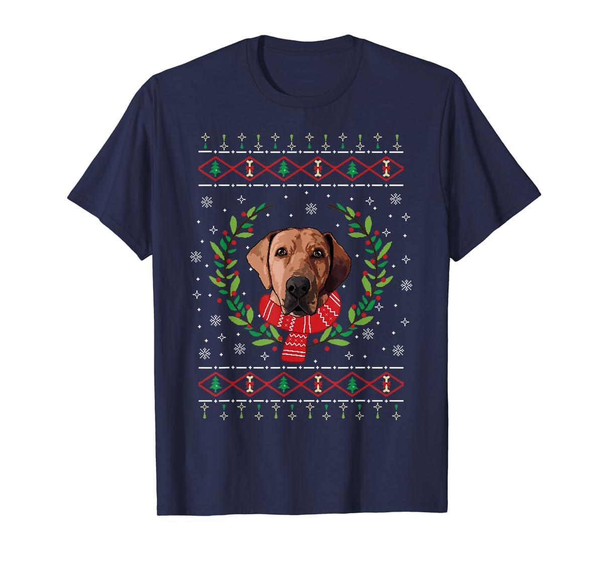 Broholmer Ugly Christmas Jumper T-Shirt Gift T-Shirt-Men's T-Shirt-Navy