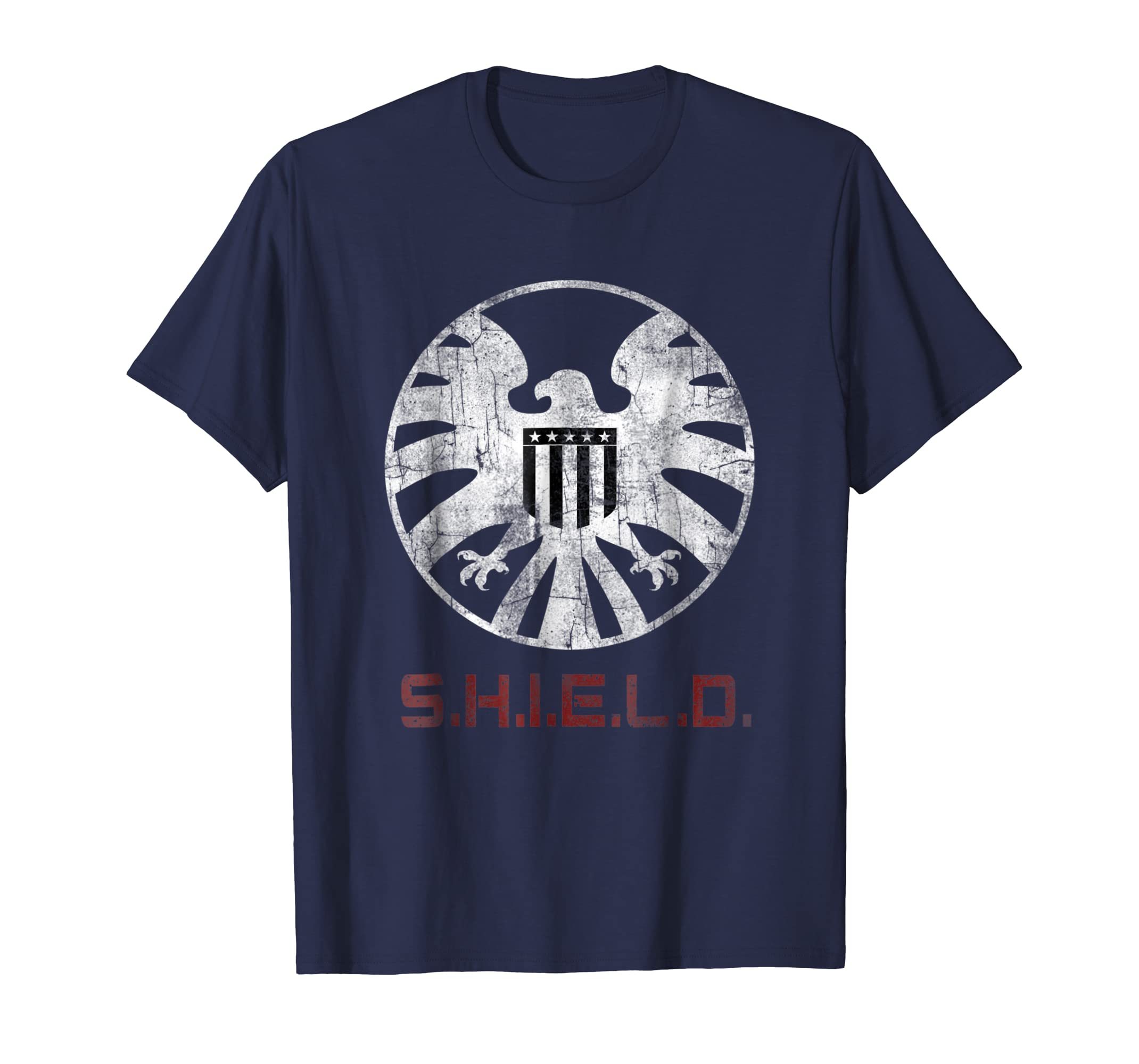 Agents of SHIELD Distressed Logo Graphic T Shirt-azvn