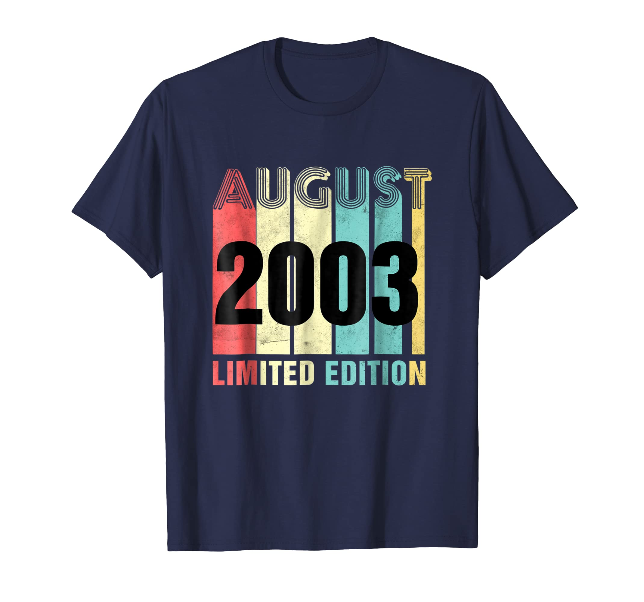Born In August 2003 Birthday Gift T Shirt 15 Years Old Gift-Newstyleth