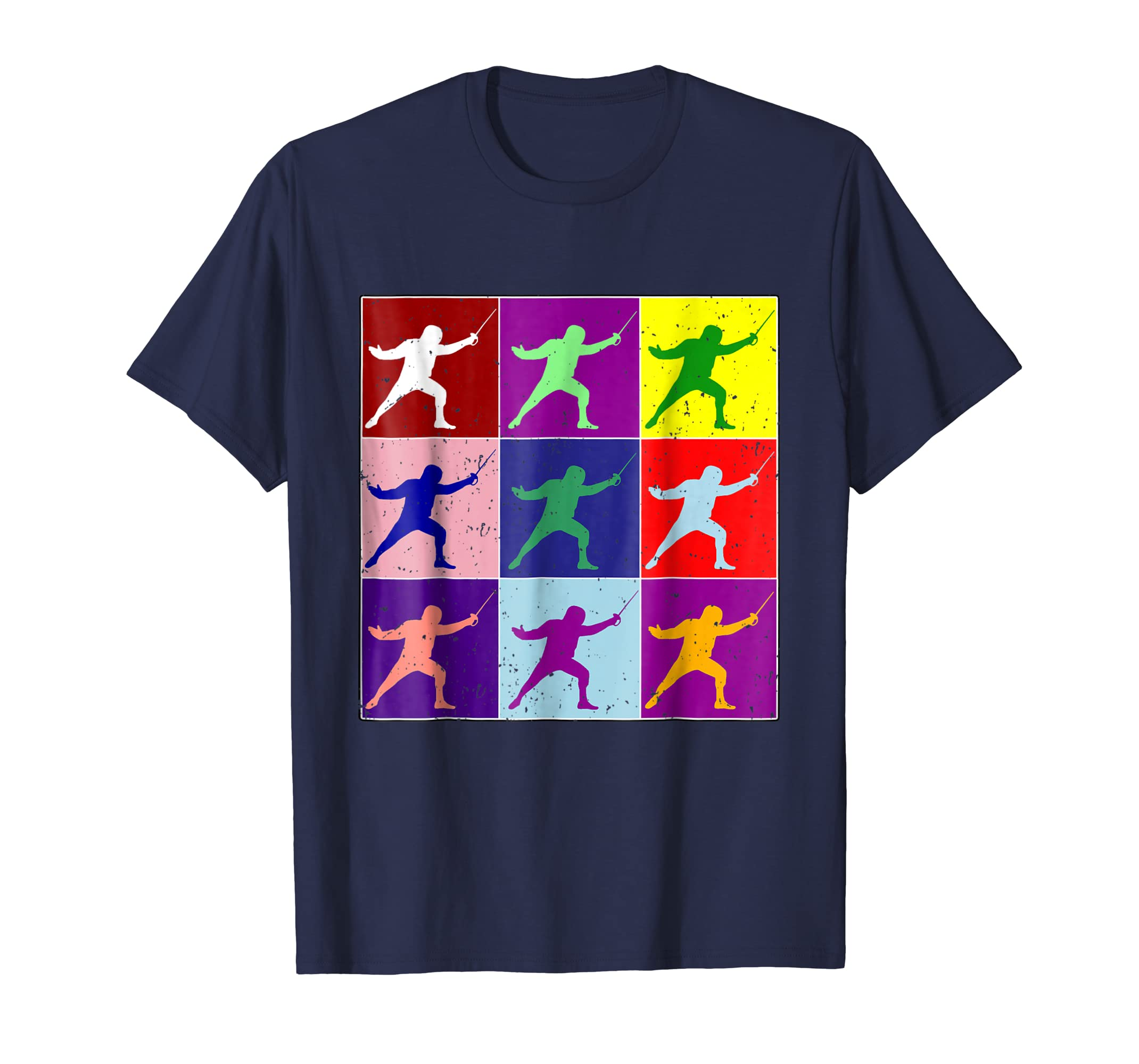 Fencing Color Pop Type Art T Shirt I Funny Epee Foil Sabre-azvn