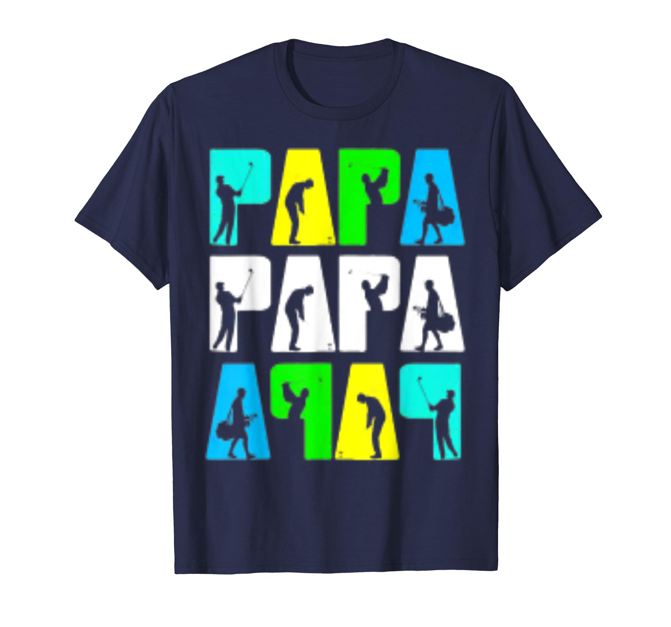 d871f5da Amazon.com: Retro Golfing Papa Tee Shirt. Golf Gifts For Fathers Day:  Clothing
