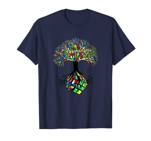 aa348c999 Image Unavailable. Image not available for. Color: Rubik Cube Tree Awesome Design  T-shirt