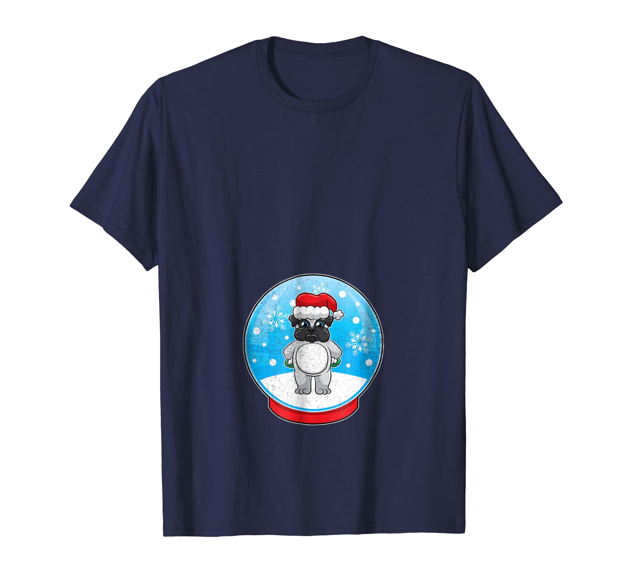 Christmas Pregnancy Shirt Baby Shower Gender Reveal Pug-azvn
