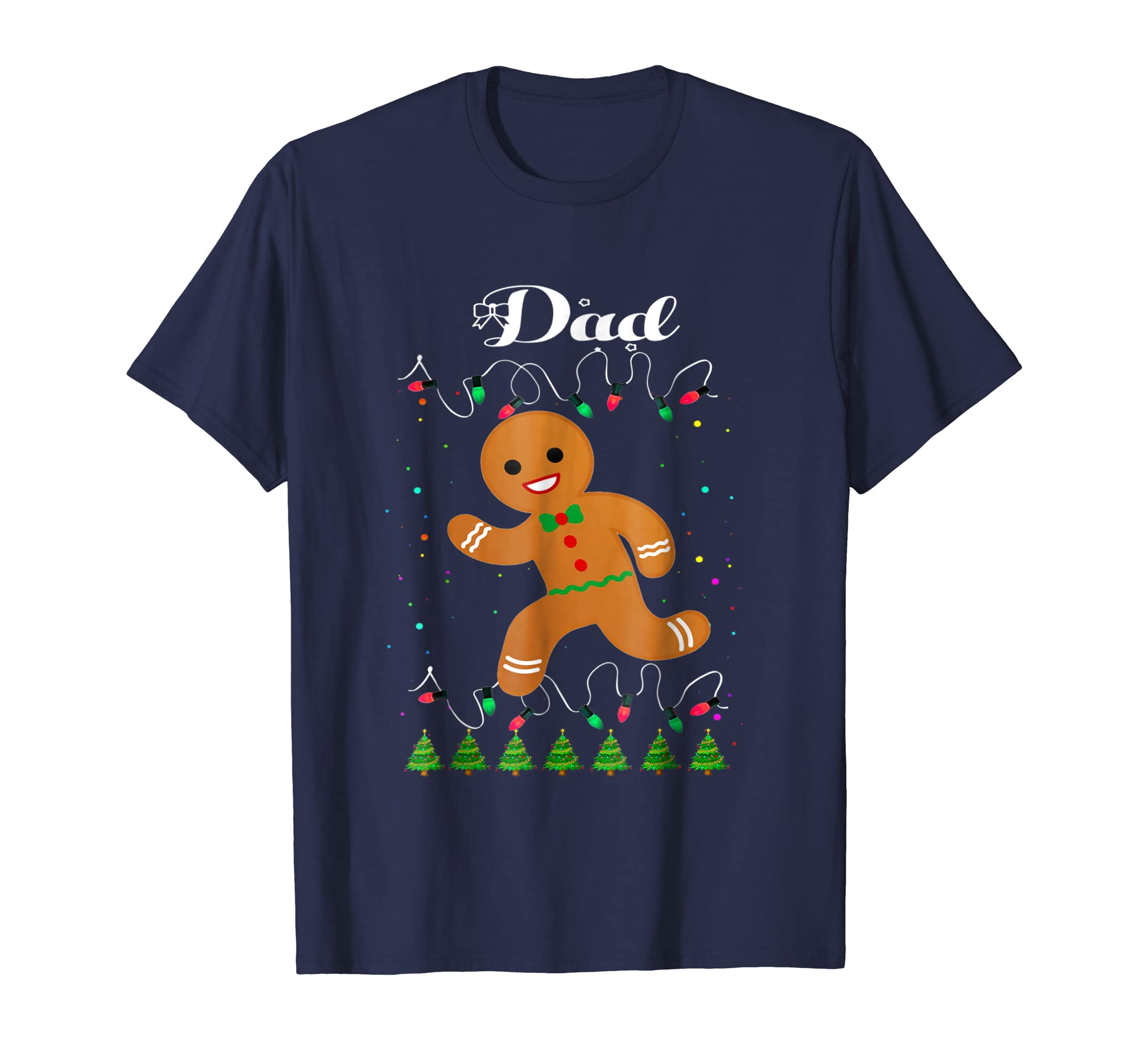 Dad Gingerbread Man Matching Family Christmas Squad T Shirt-azvn