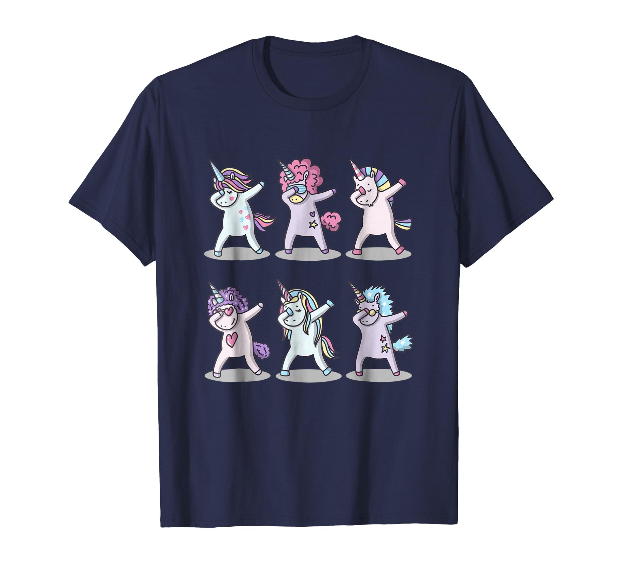 Amazon com dabbing unicorns shirt funny unicorn gift unicorn birthday clothing