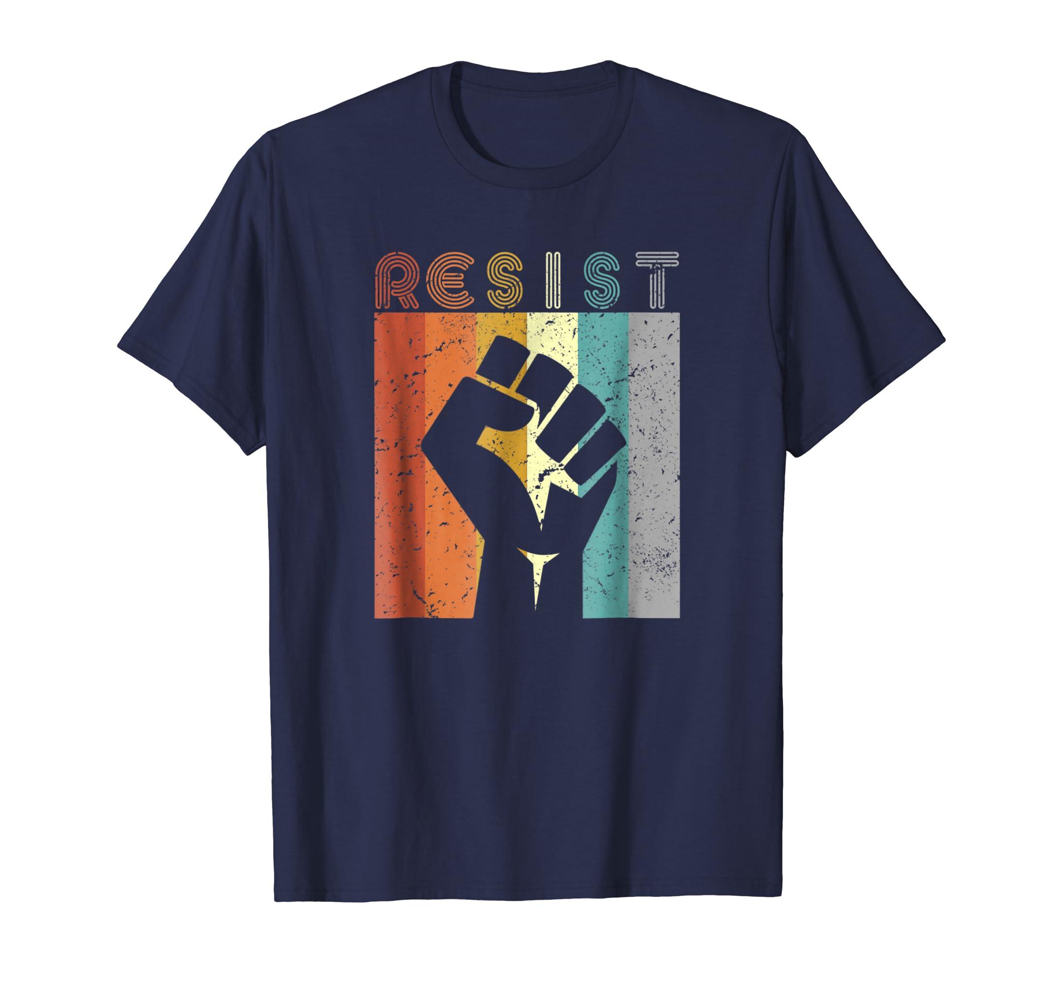 Resist Shirt. Retro, Feminist T Shirt, 70's Vintage Tee-azvn