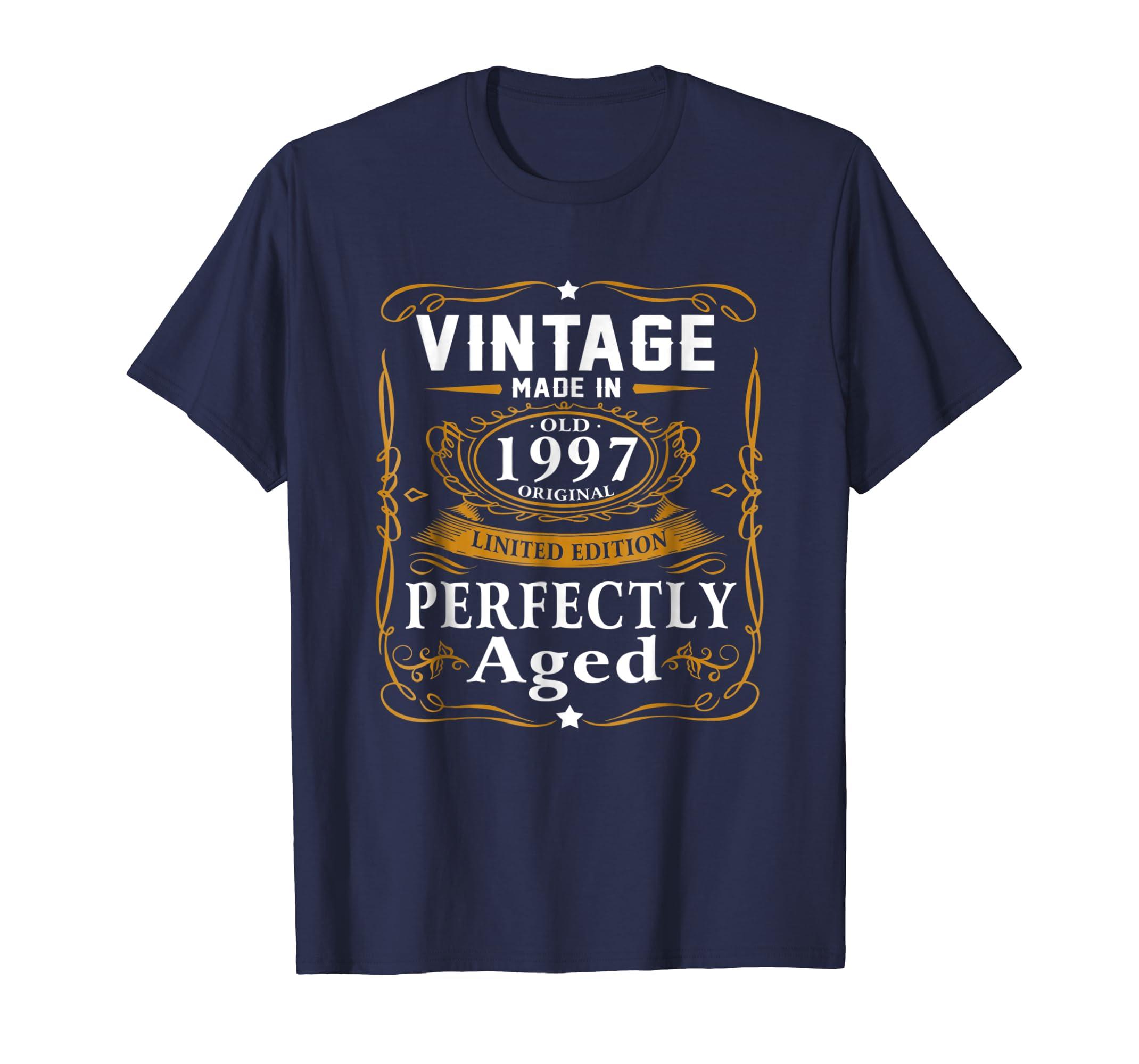 22nd Birthday Gift Vintage 1997 Year T Shirt Men Women-azvn