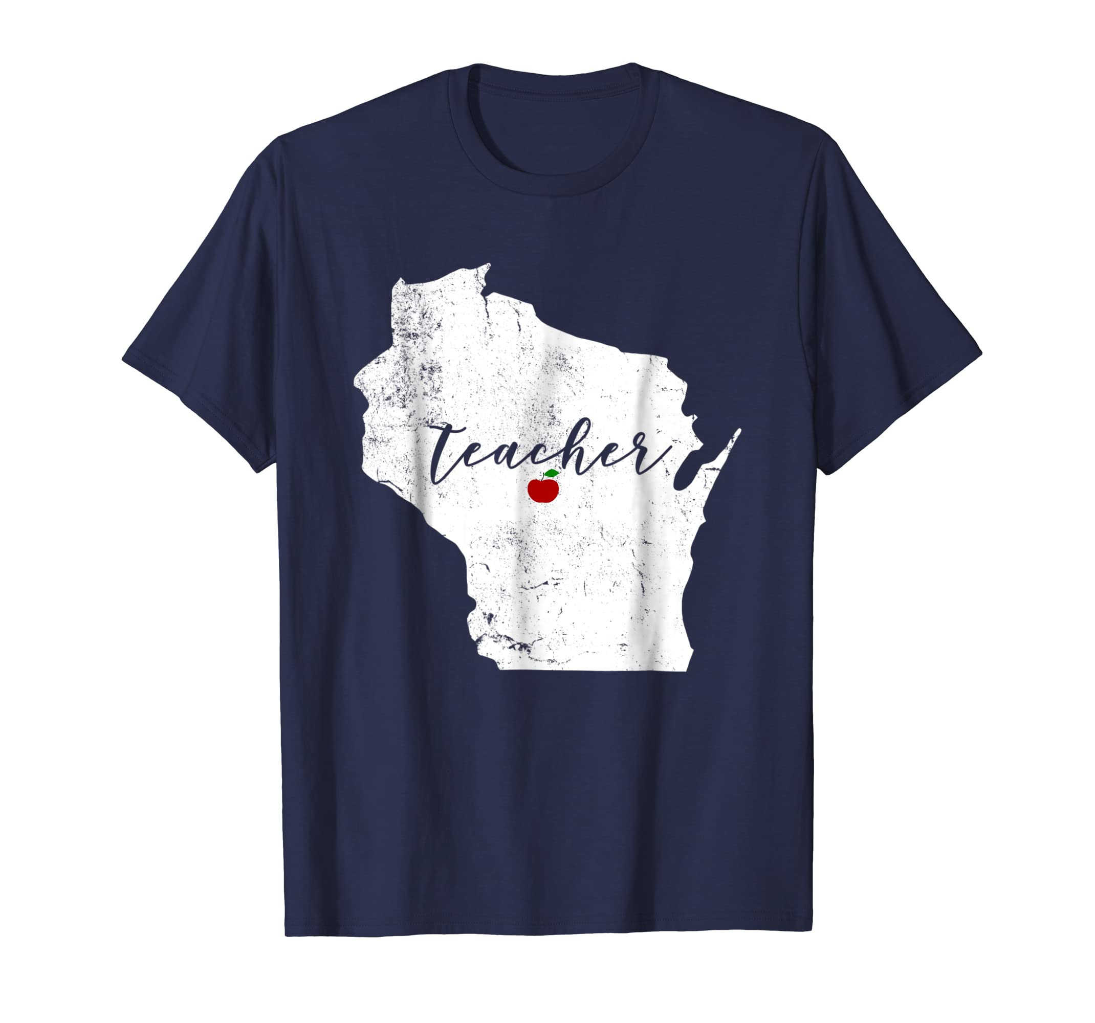 wisconsin teacher apple shirt dark colors alottee gift