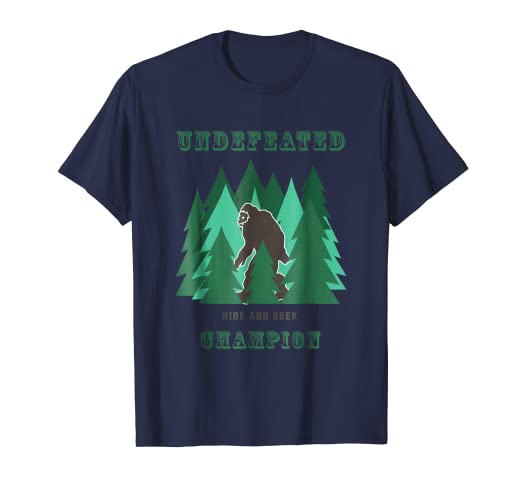 a116f915 Image Unavailable. Image not available for. Color: Undefeated Hide & Seek  Champion T-Shirt - Bigfoot Sasquatch