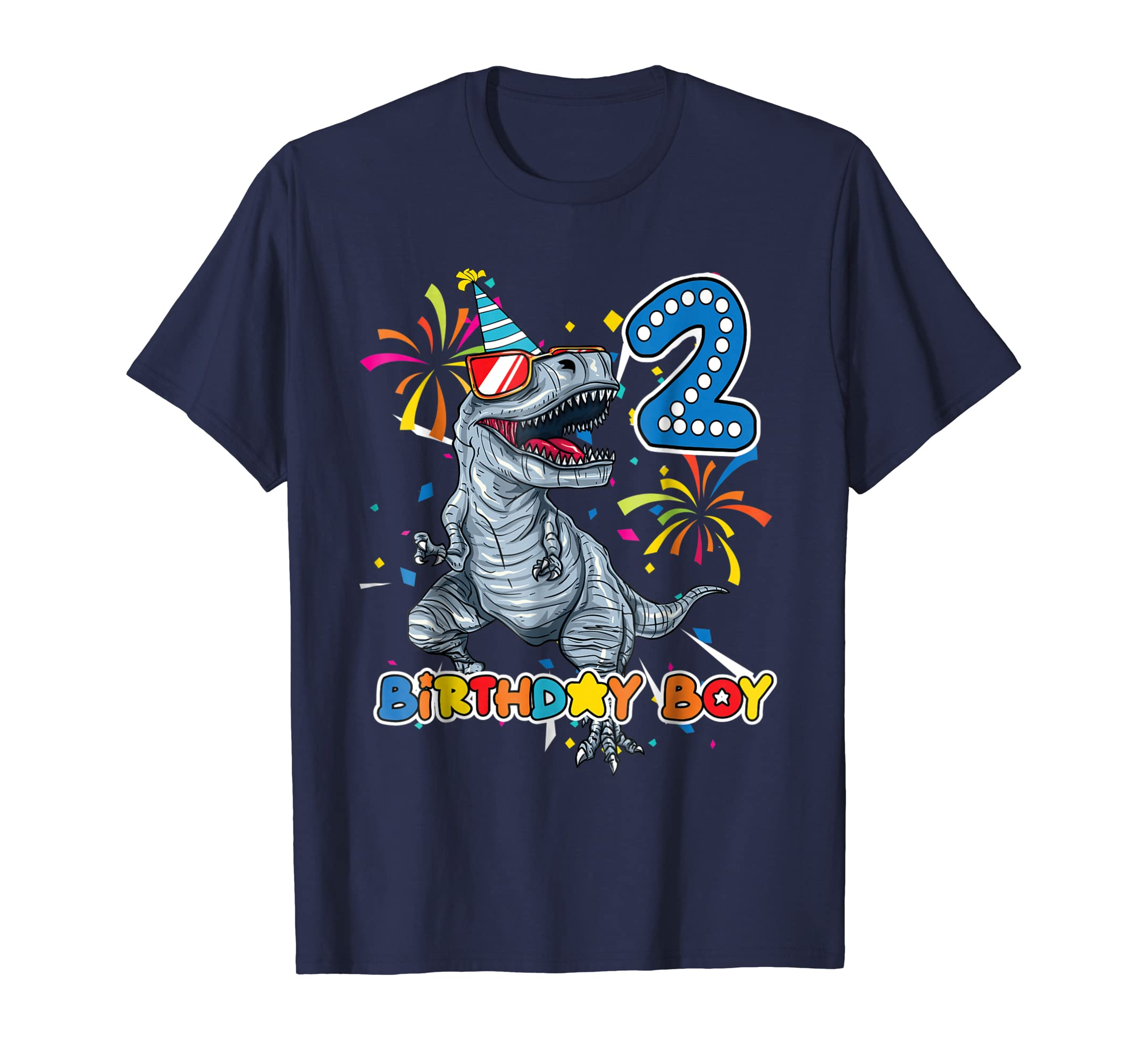 Its My 2ND Birthday Shirt Dinosaur Party For 2 Year Old Boy Colonhue