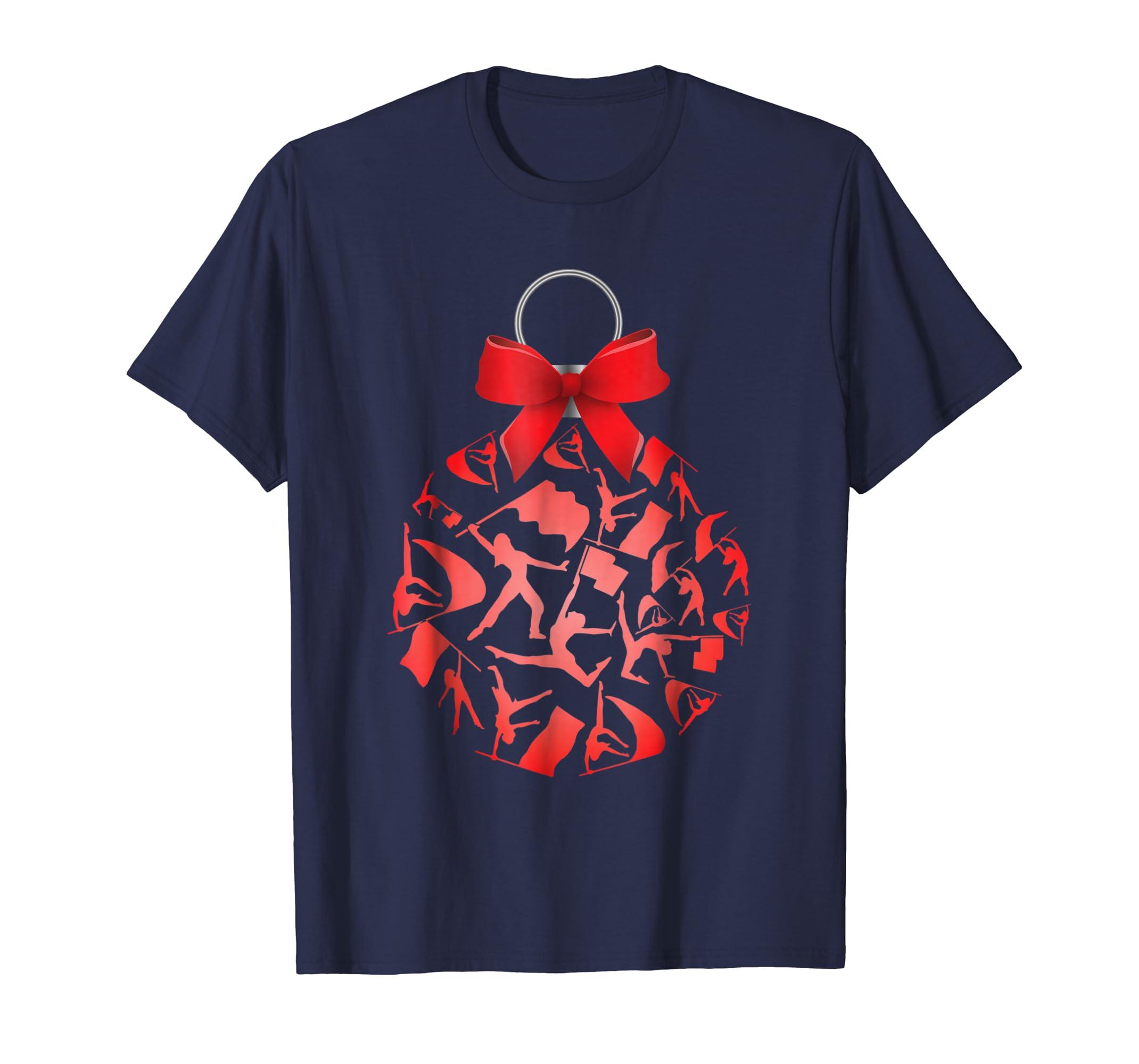Christmas tree ornaments Color Guard Sport Tshirt-azvn