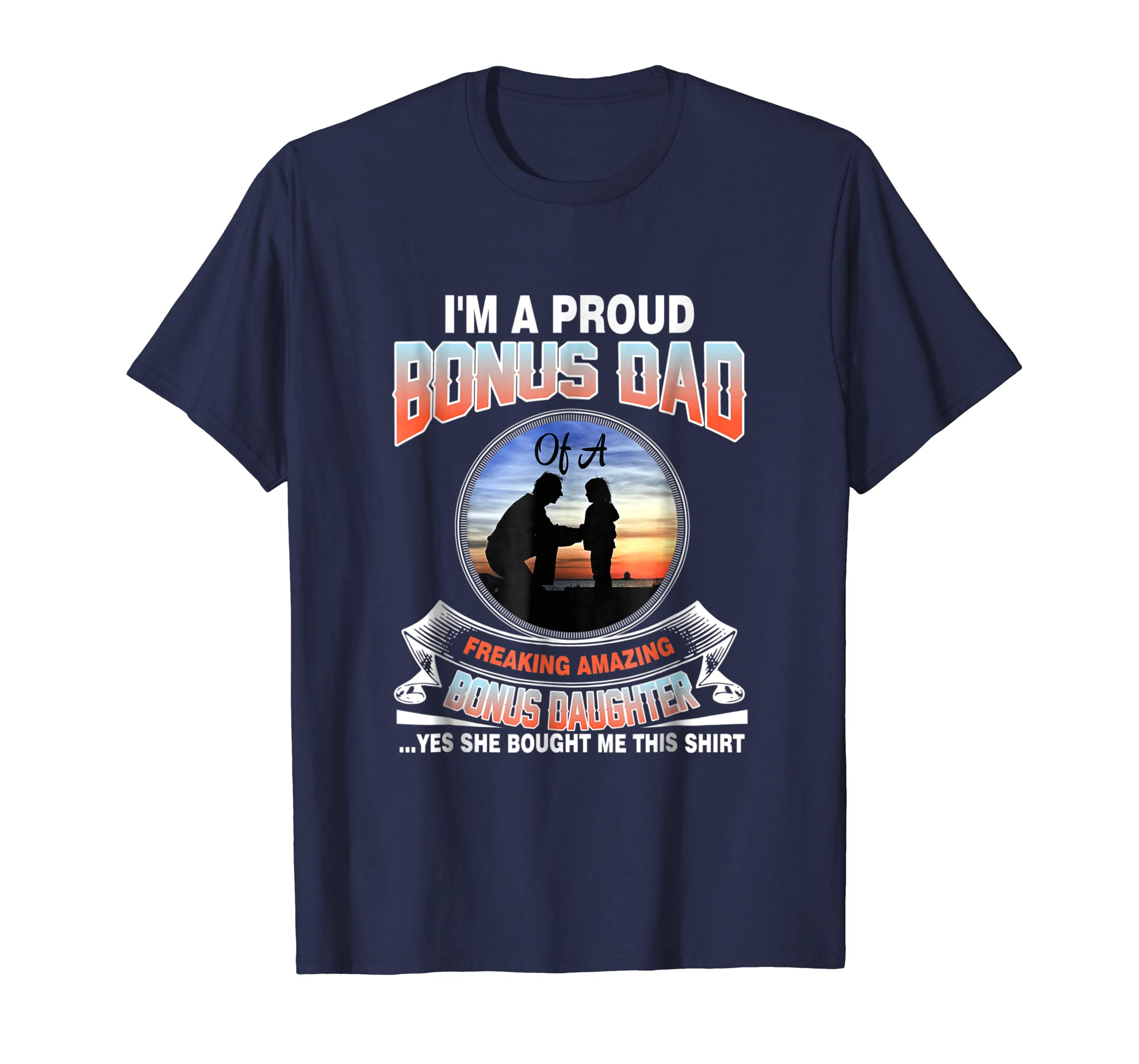 Amazoncom T Shirt Ideas For Step Dad From Daughter Fathers Day