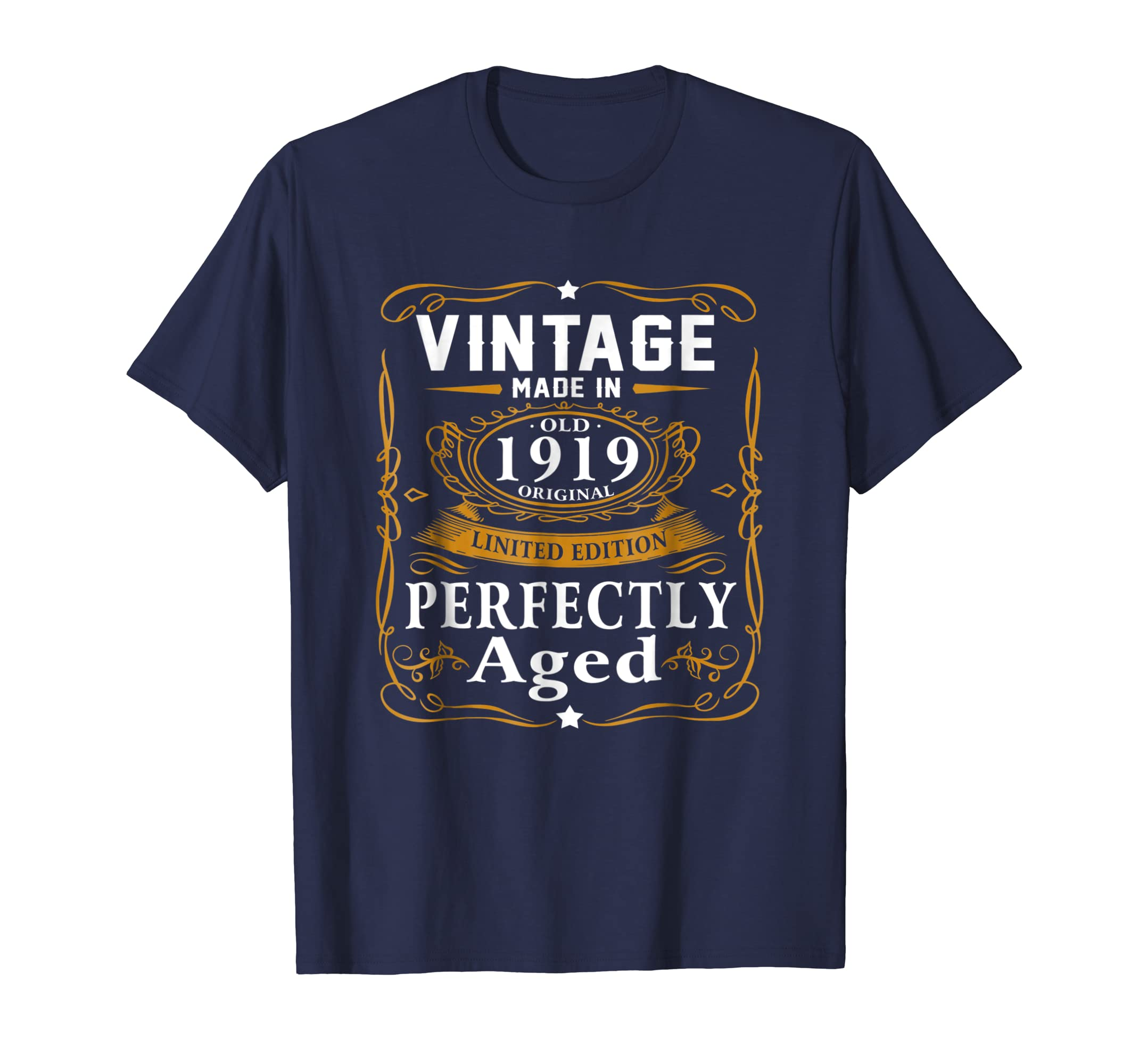 100th Birthday Gift Vintage 1919 Year T Shirt Men Women-azvn