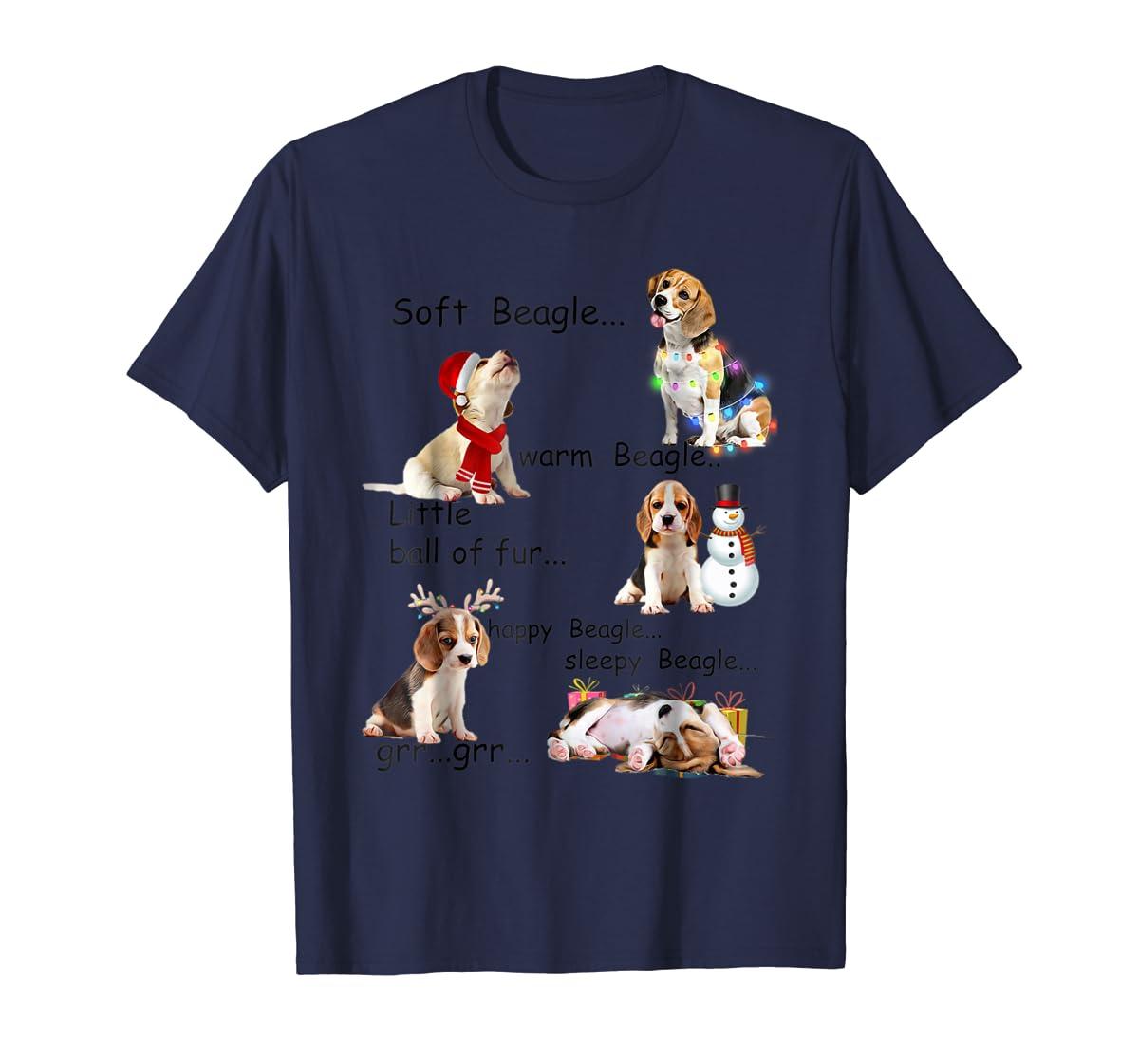 Beagle 5 Shades - Nice Dog Christmas Tshirt-Men's T-Shirt-Navy