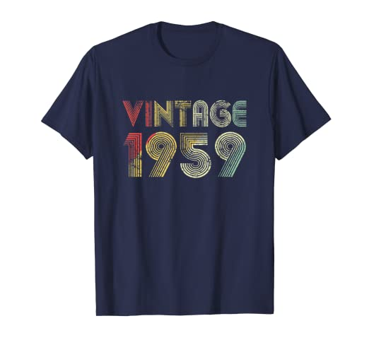 Image Unavailable Not Available For Color Retro Vintage 1959 TShirt 60th Birthday Gifts 60 Years Old