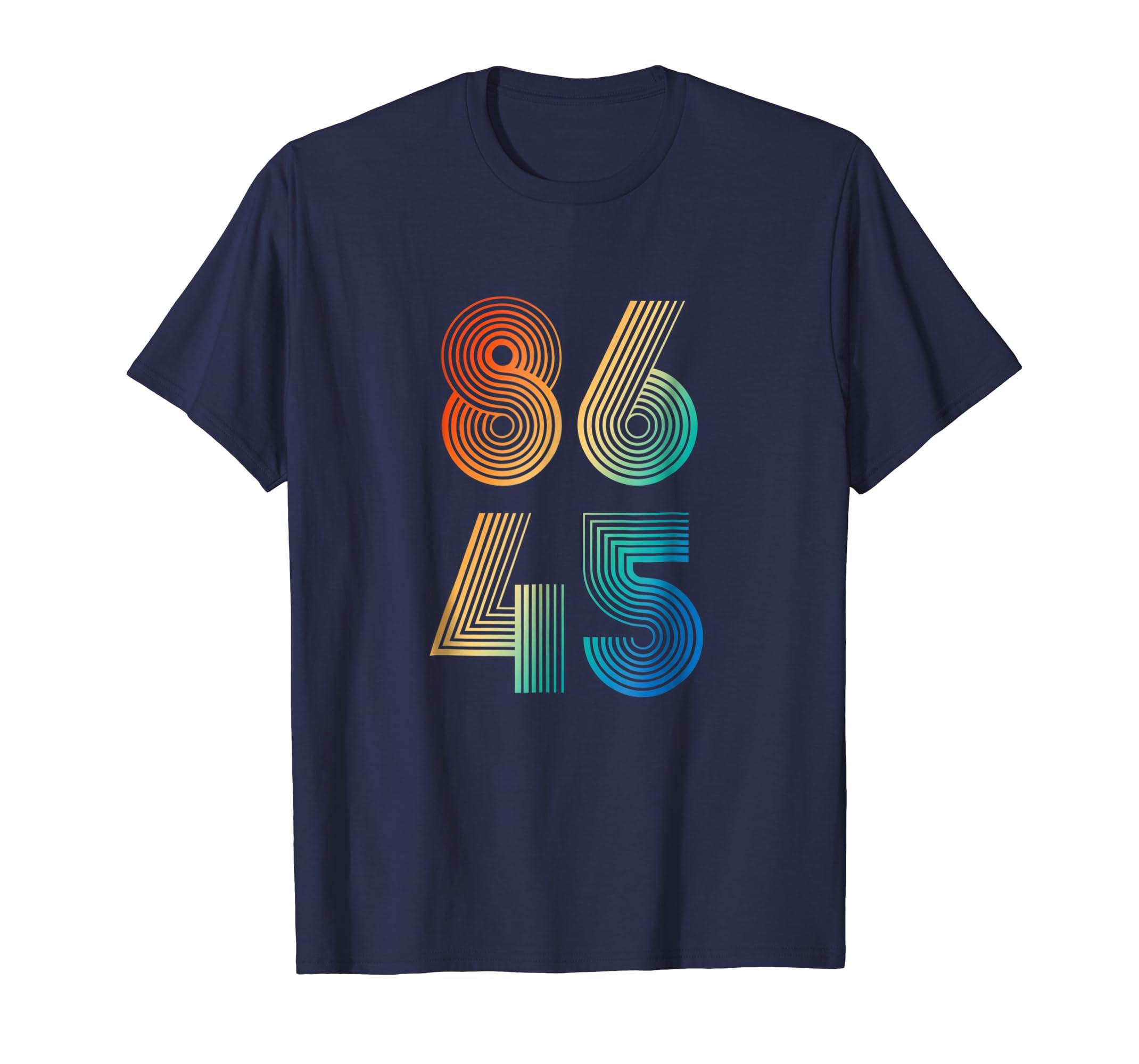 86 45 Cool Retro T-Shirt Impeach Trump-ln