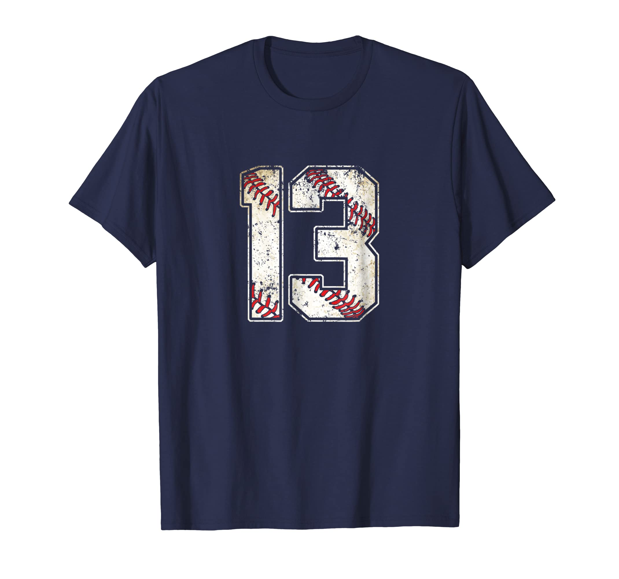 #13 Baseball Jersey Number 13 Retro Vintage T Shirt-ln