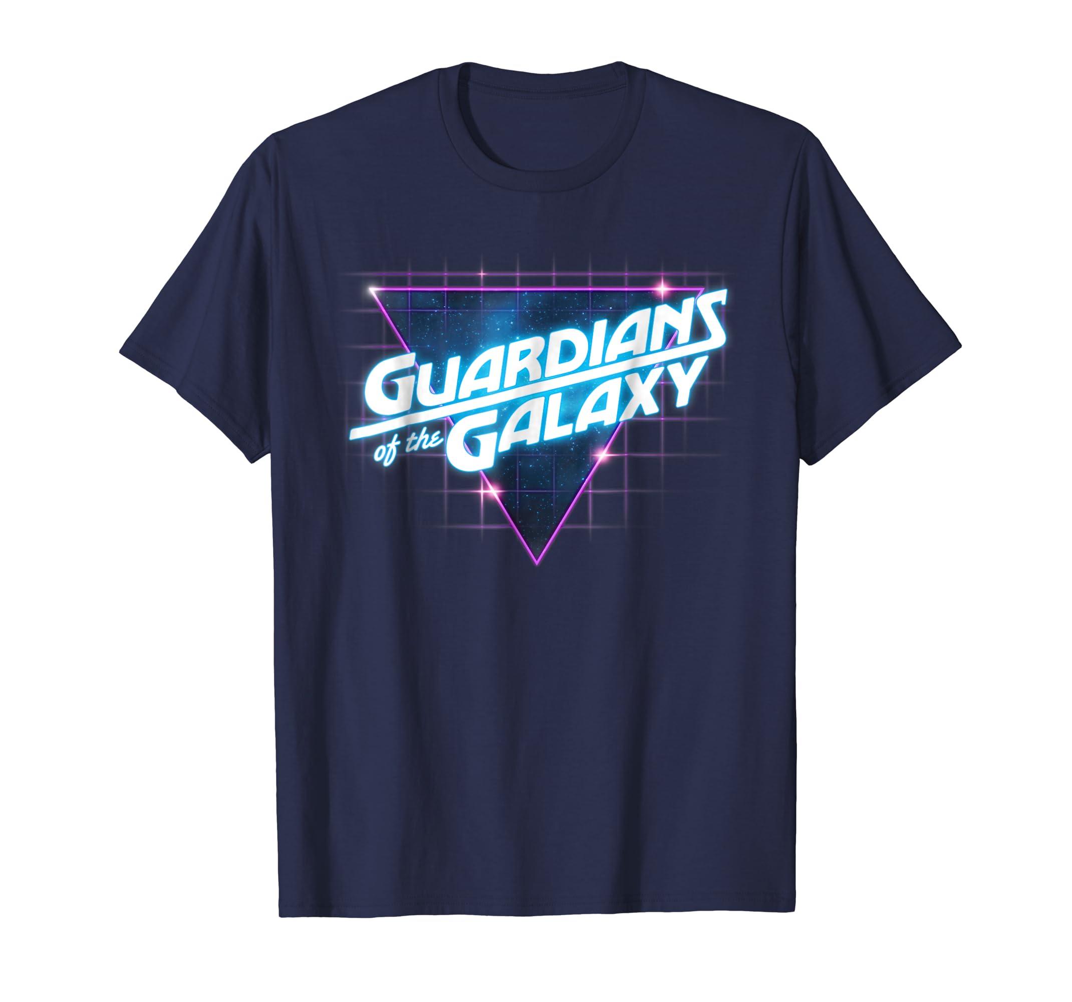 Guardians of the Galaxy Retro Logo Graphic T Shirt-azvn