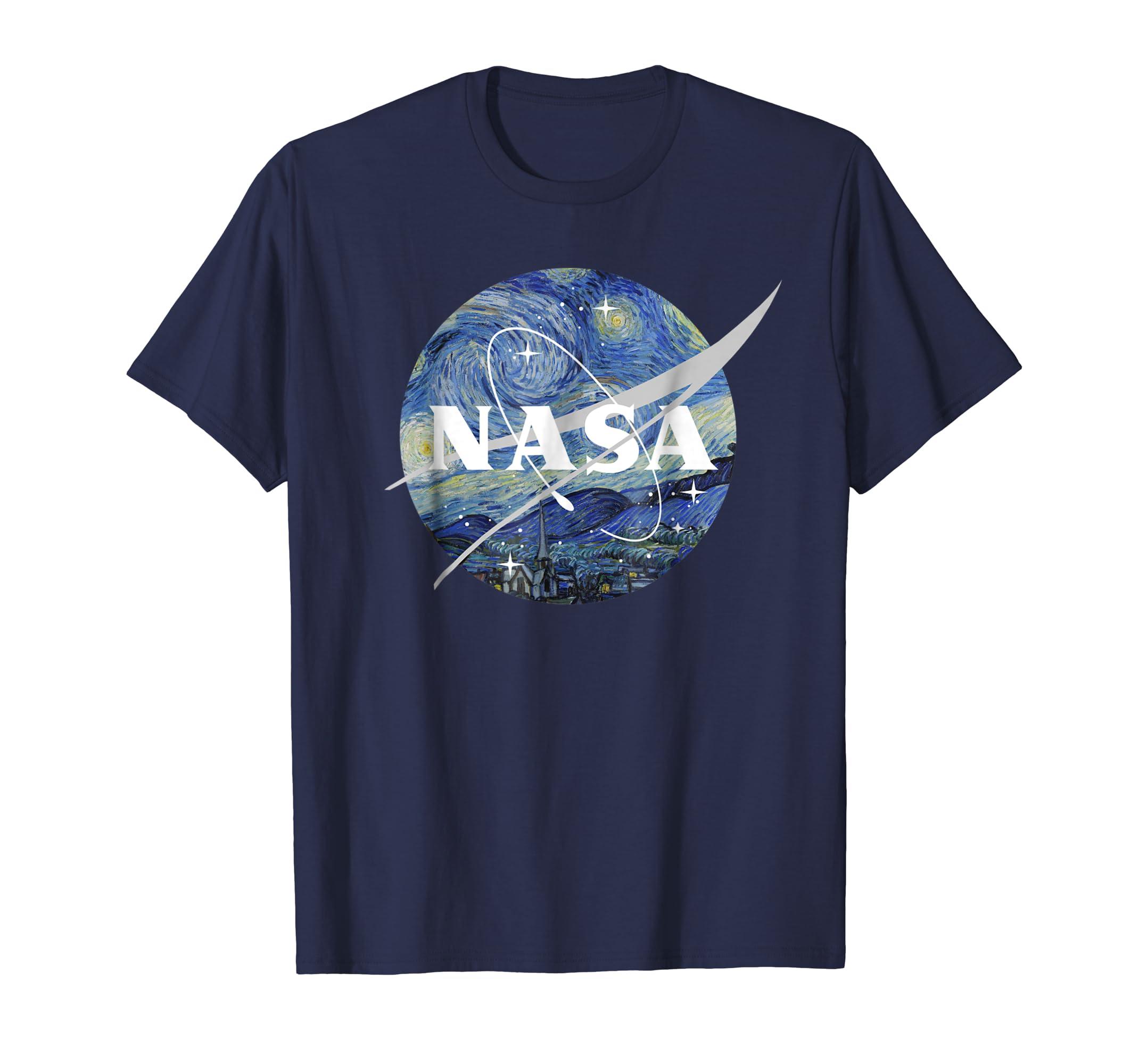 8dd298b38d7 NASA Starry Night Classic Chevron Logo Graphic T Shirt – Bamitee