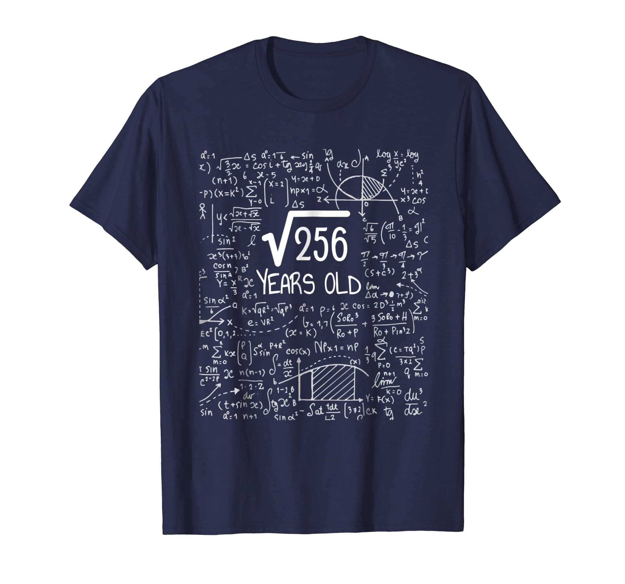 16th Birthday T Shirt   Square Root of 256: 16 Years Old-azvn