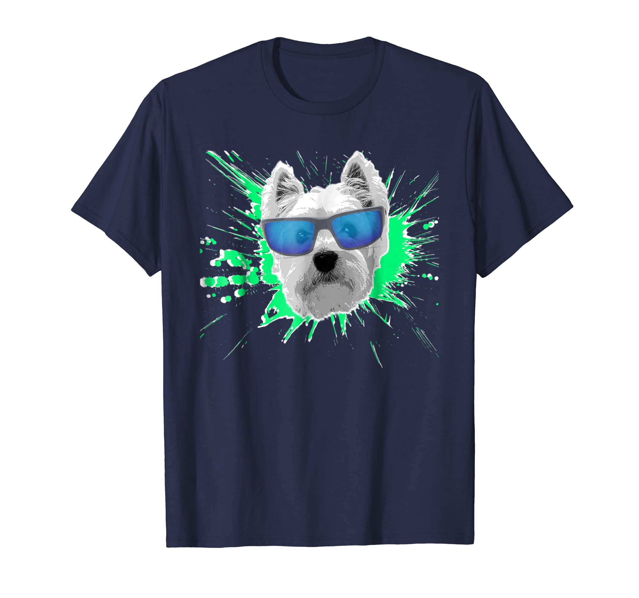 Westie Splash Design T shirt-Teesml