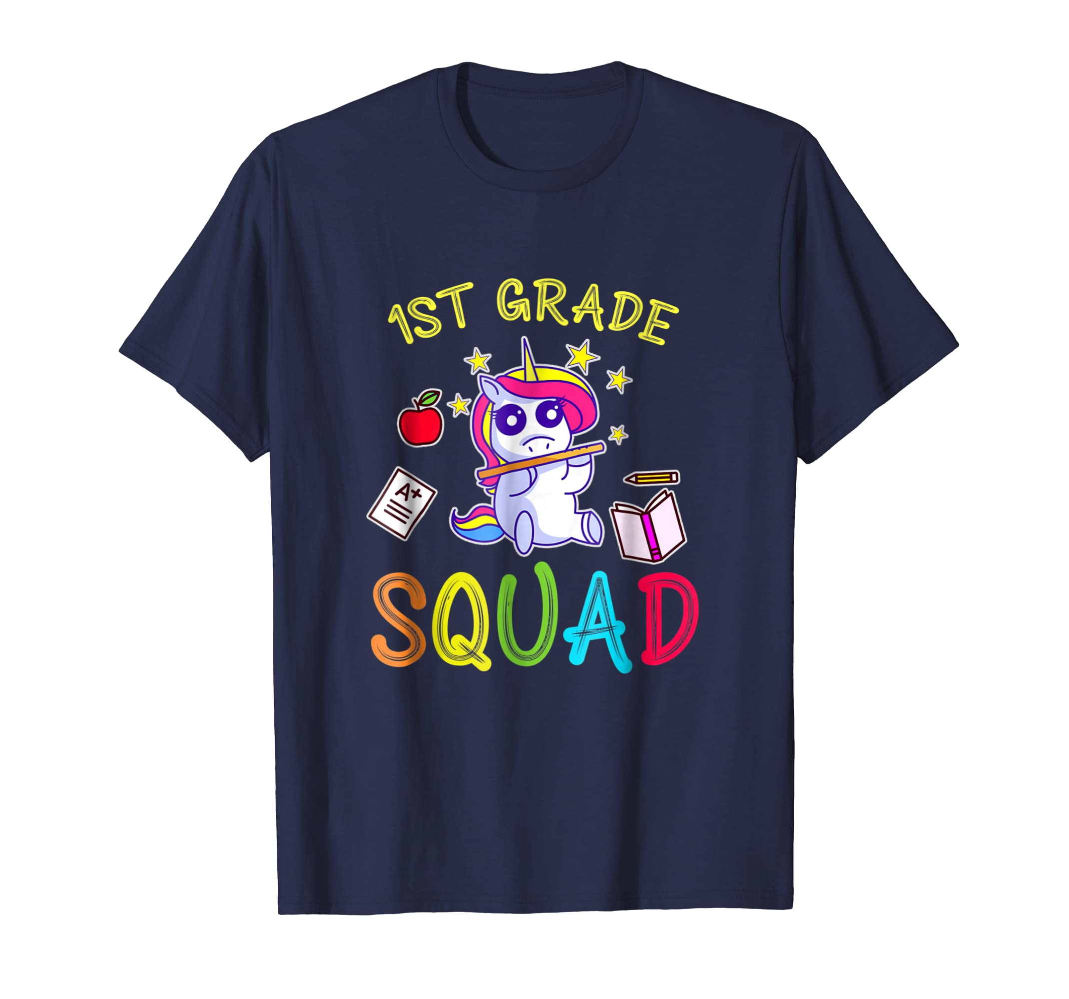 1st Grade squad teacher t shirt funny 1st day of school-Rose